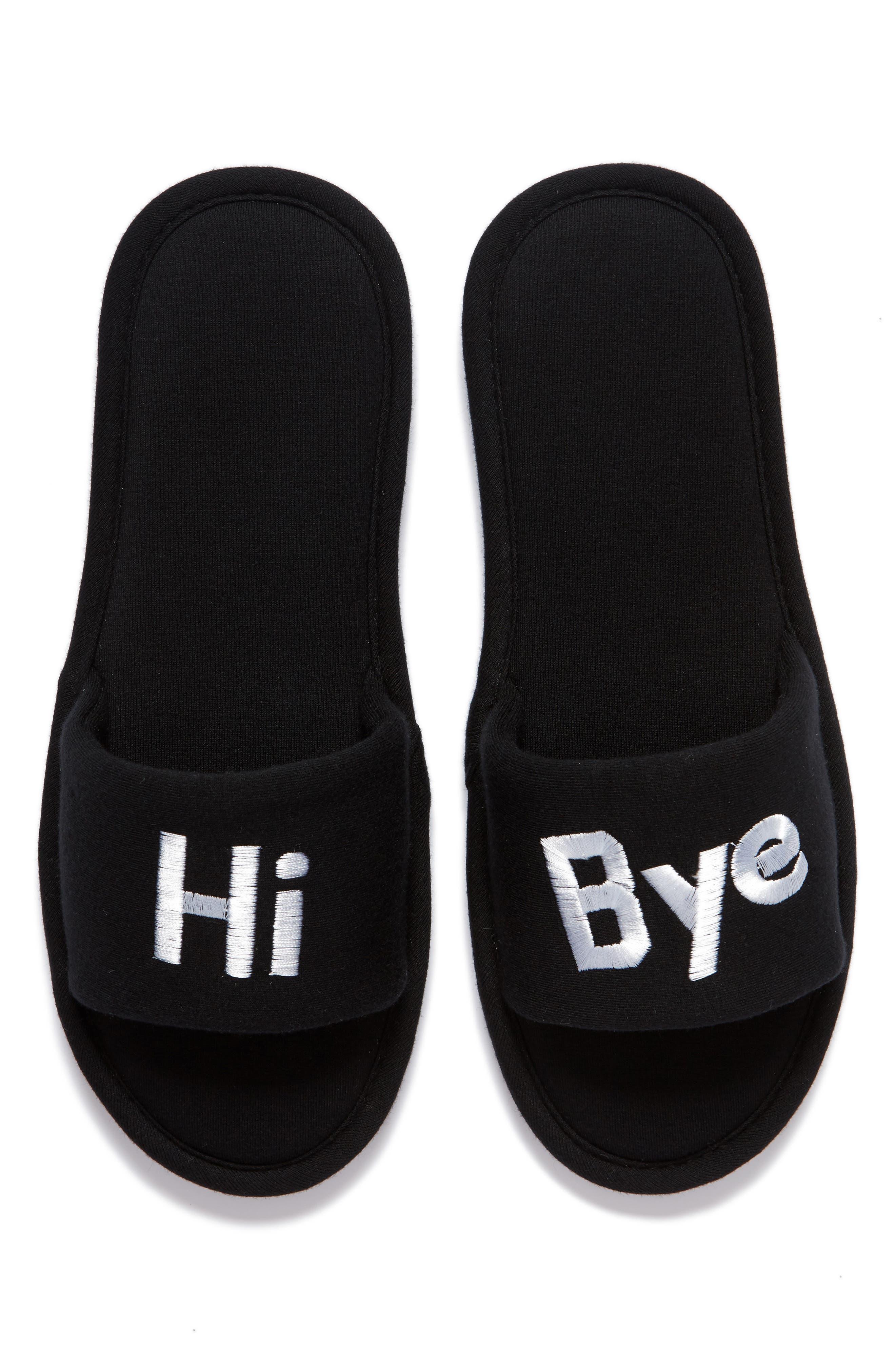Hi & Bye Slide Slippers,                             Alternate thumbnail 5, color,                             001