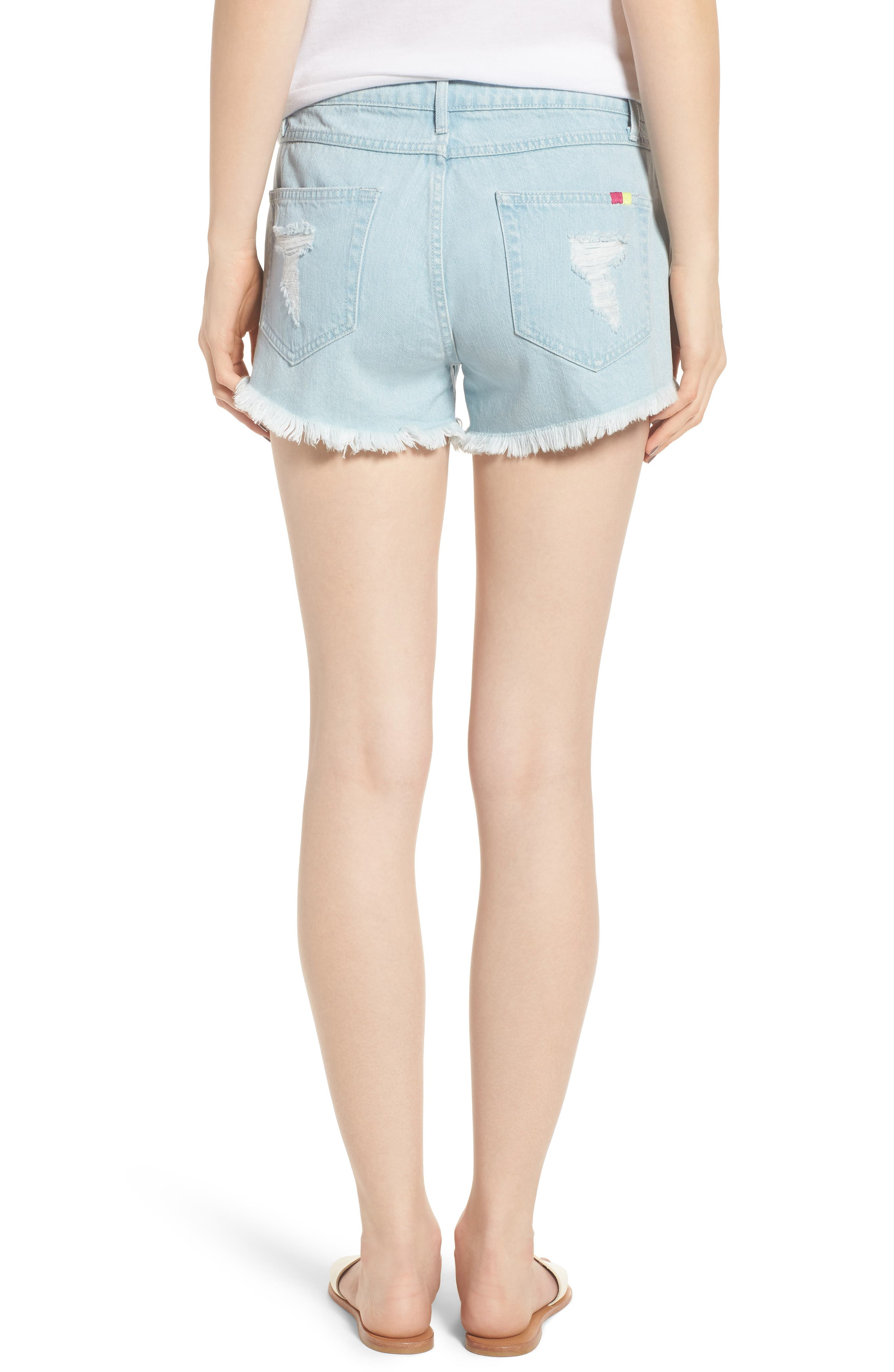 Cabo Cutoff Denim Shorts,                             Alternate thumbnail 2, color,                             400
