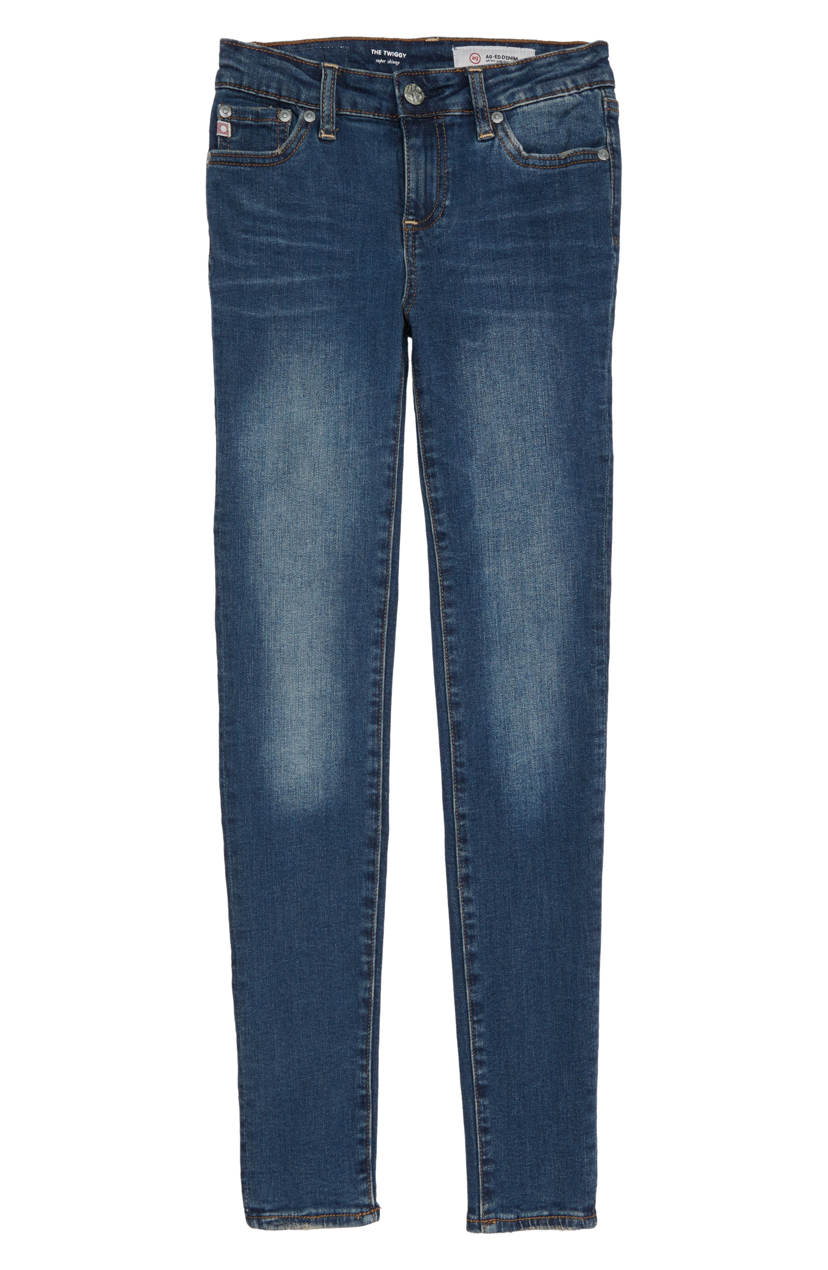 The Twiggy Super Skinny Jeans,                         Main,                         color, 7 YEAR BREAK