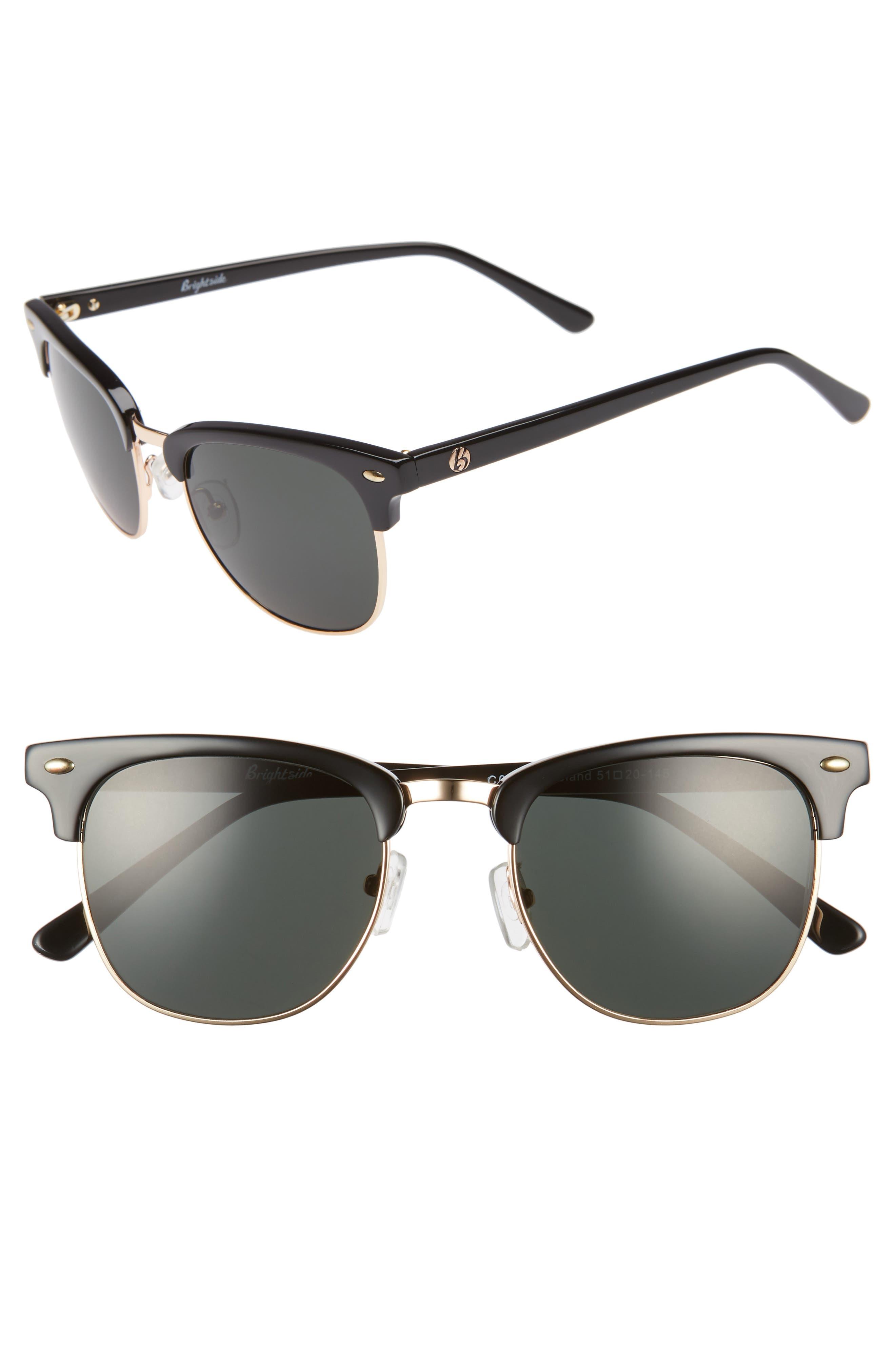 Copeland 51mm Sunglasses,                             Main thumbnail 1, color,                             BLACK/ GREY