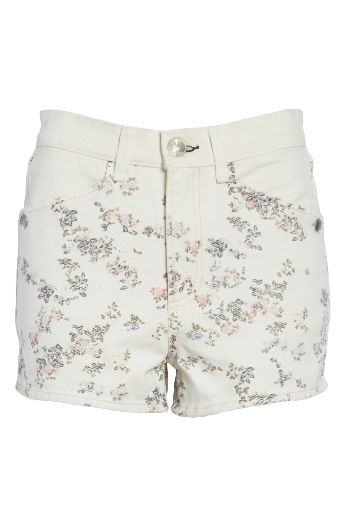 Ellie Twill Shorts,                             Alternate thumbnail 6, color,                             MICRO FLORAL