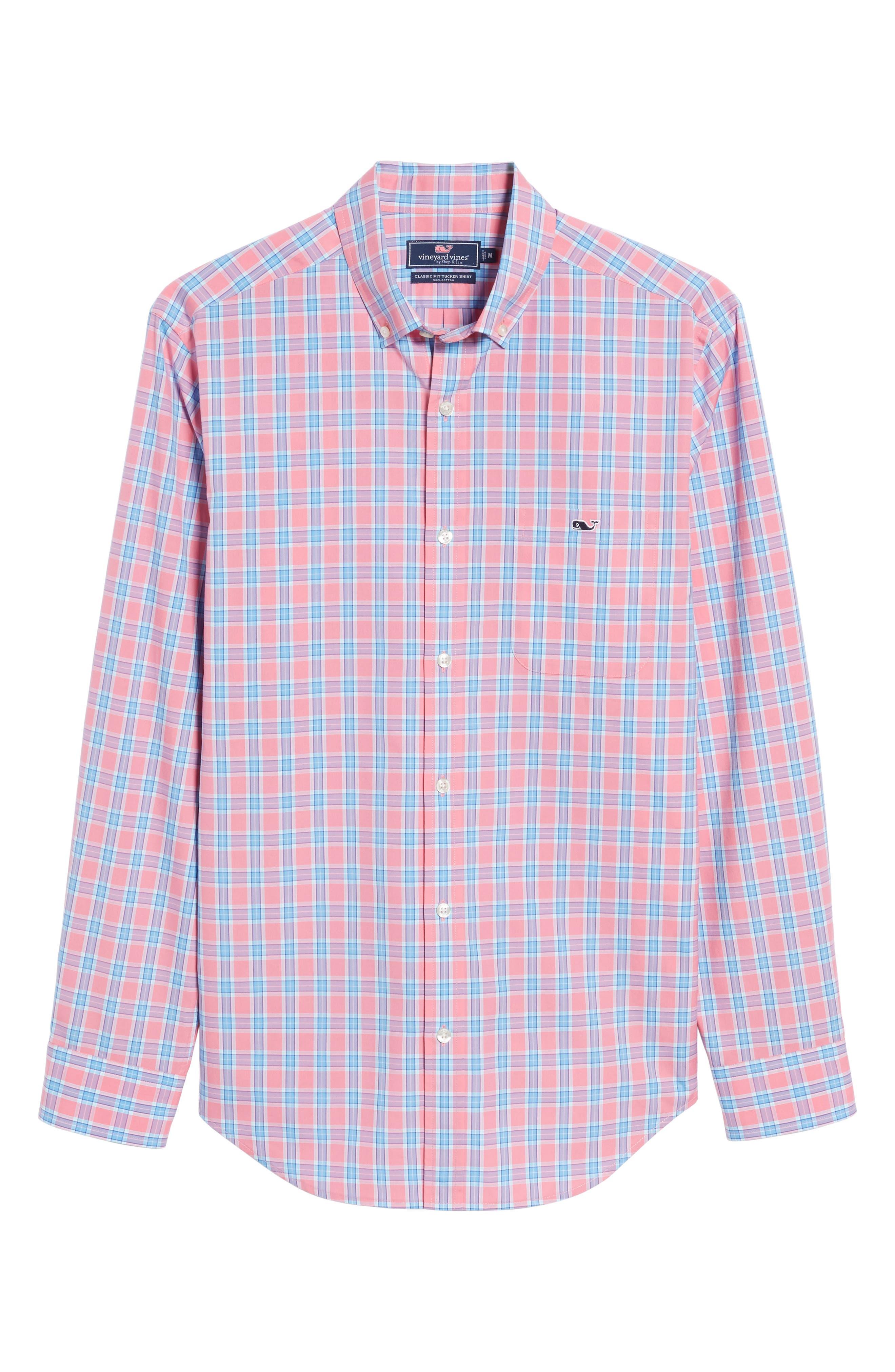 Tucker Bayard Classic Fit Plaid Sport Shirt,                             Alternate thumbnail 6, color,                             650