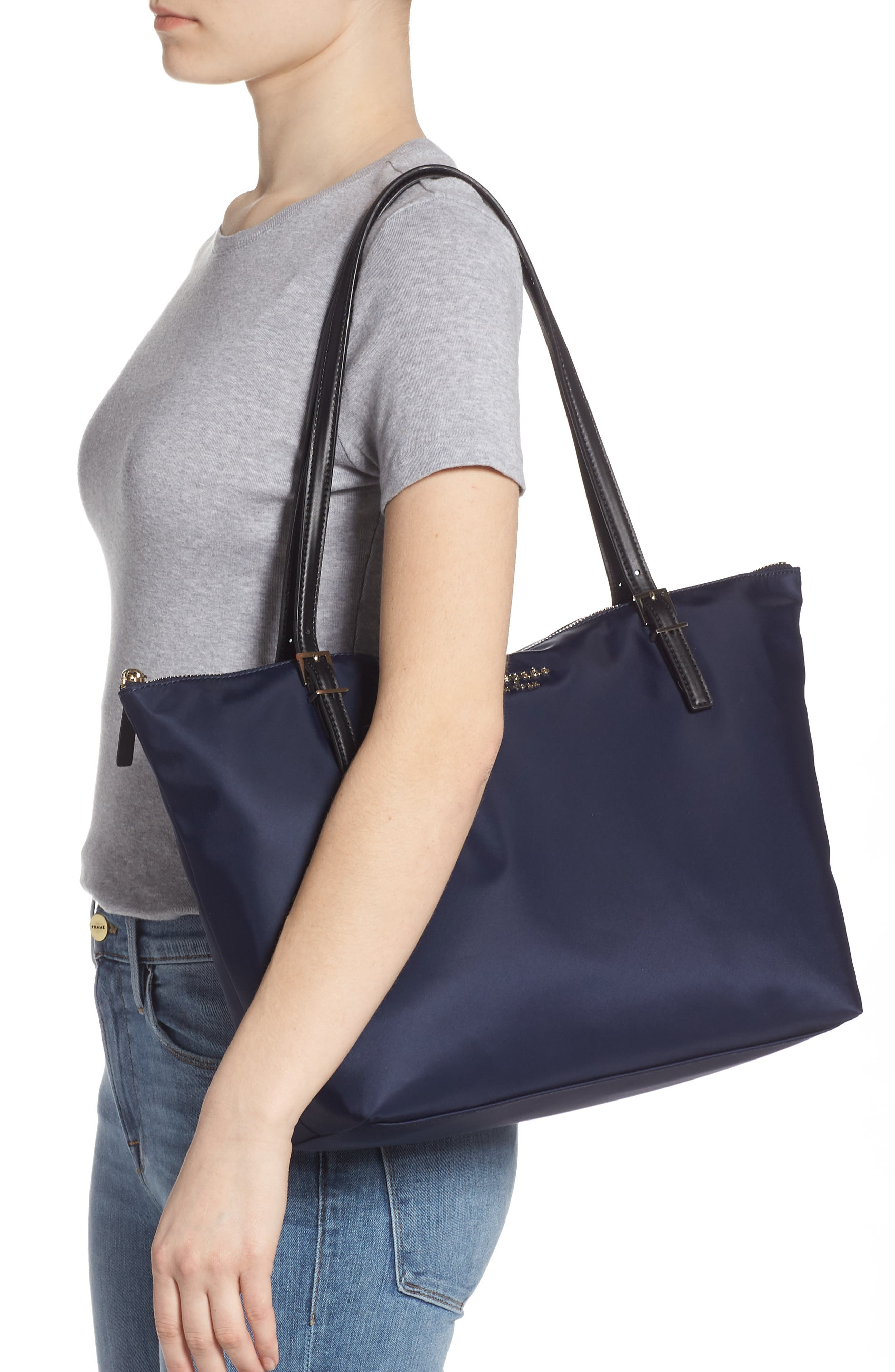 KATE SPADE NEW YORK,                             watson lane maya nylon tote,                             Alternate thumbnail 2, color,                             RICH NAVY
