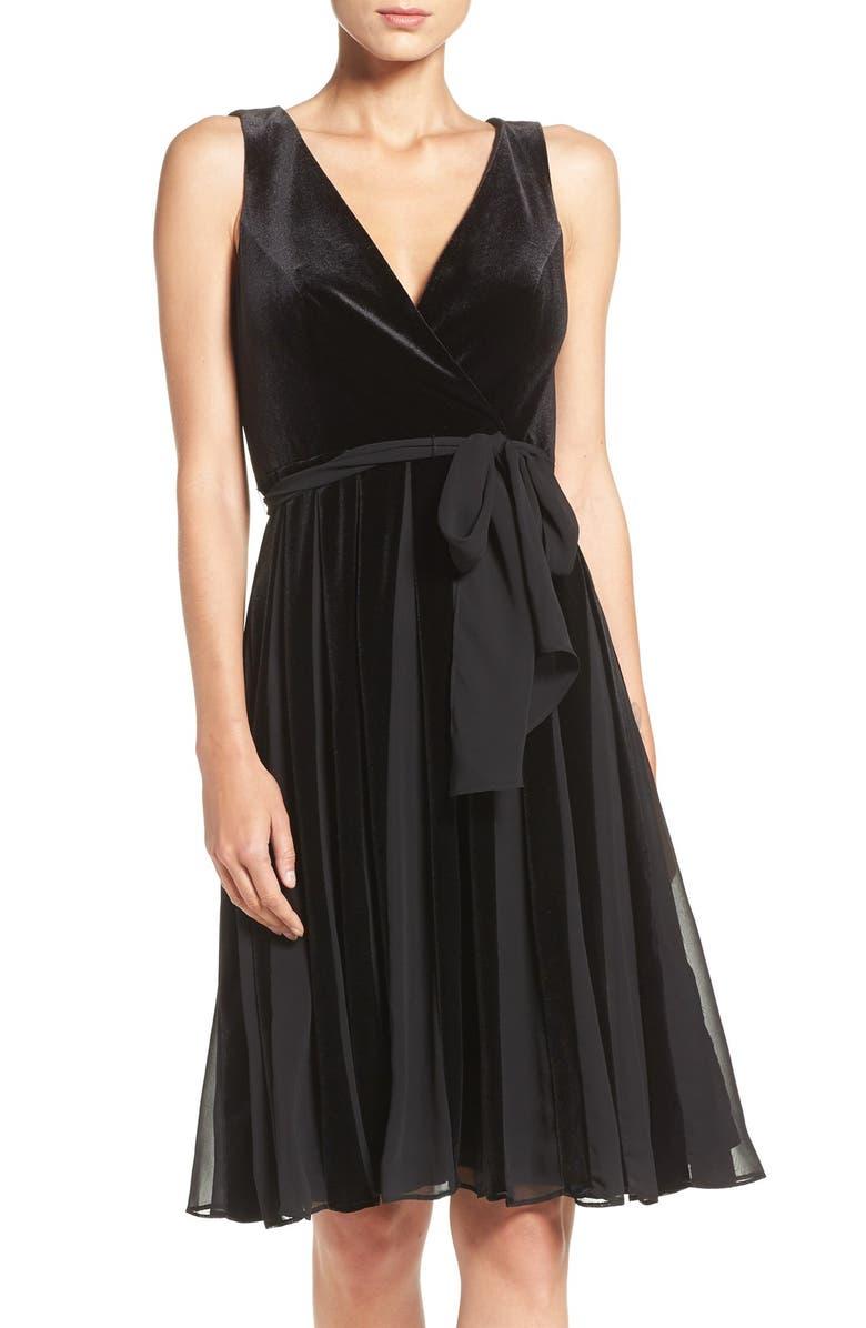 042aeffa3e Adrianna Papell Velvet Fit   Flare Dress
