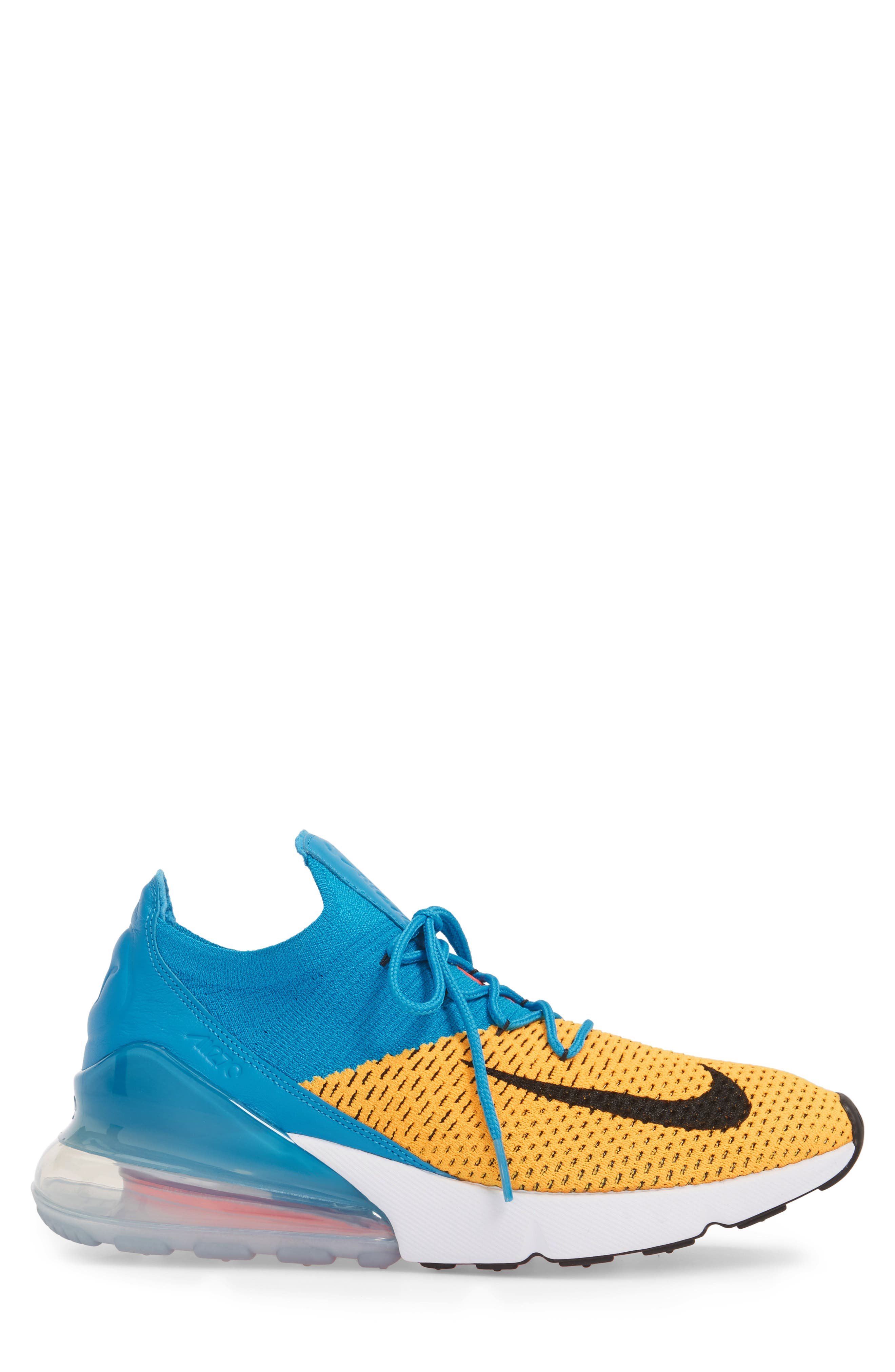 Air Max 270 Flyknit Sneaker,                             Alternate thumbnail 21, color,