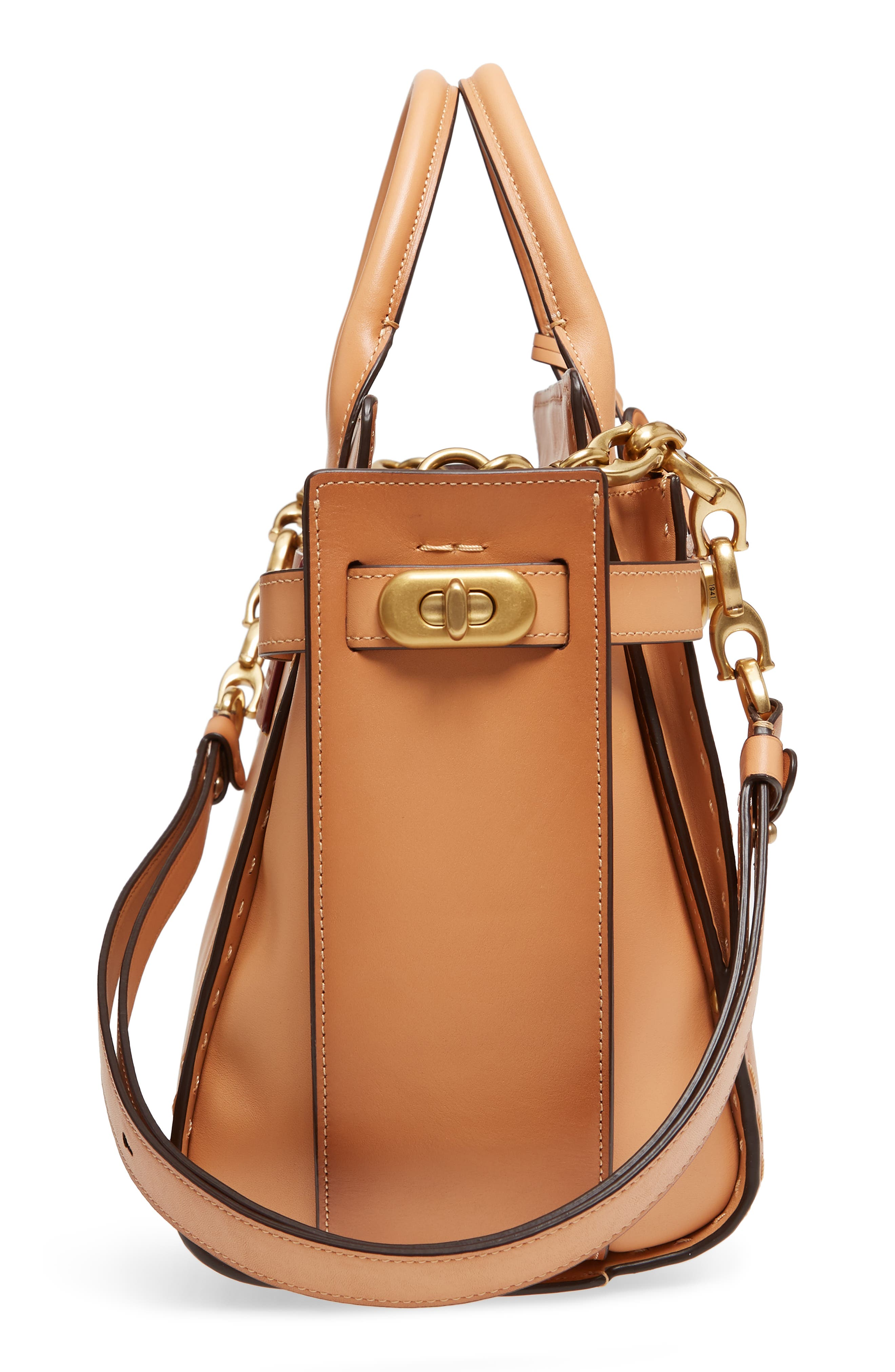 Double Swagger Leather Satchel,                             Alternate thumbnail 5, color,