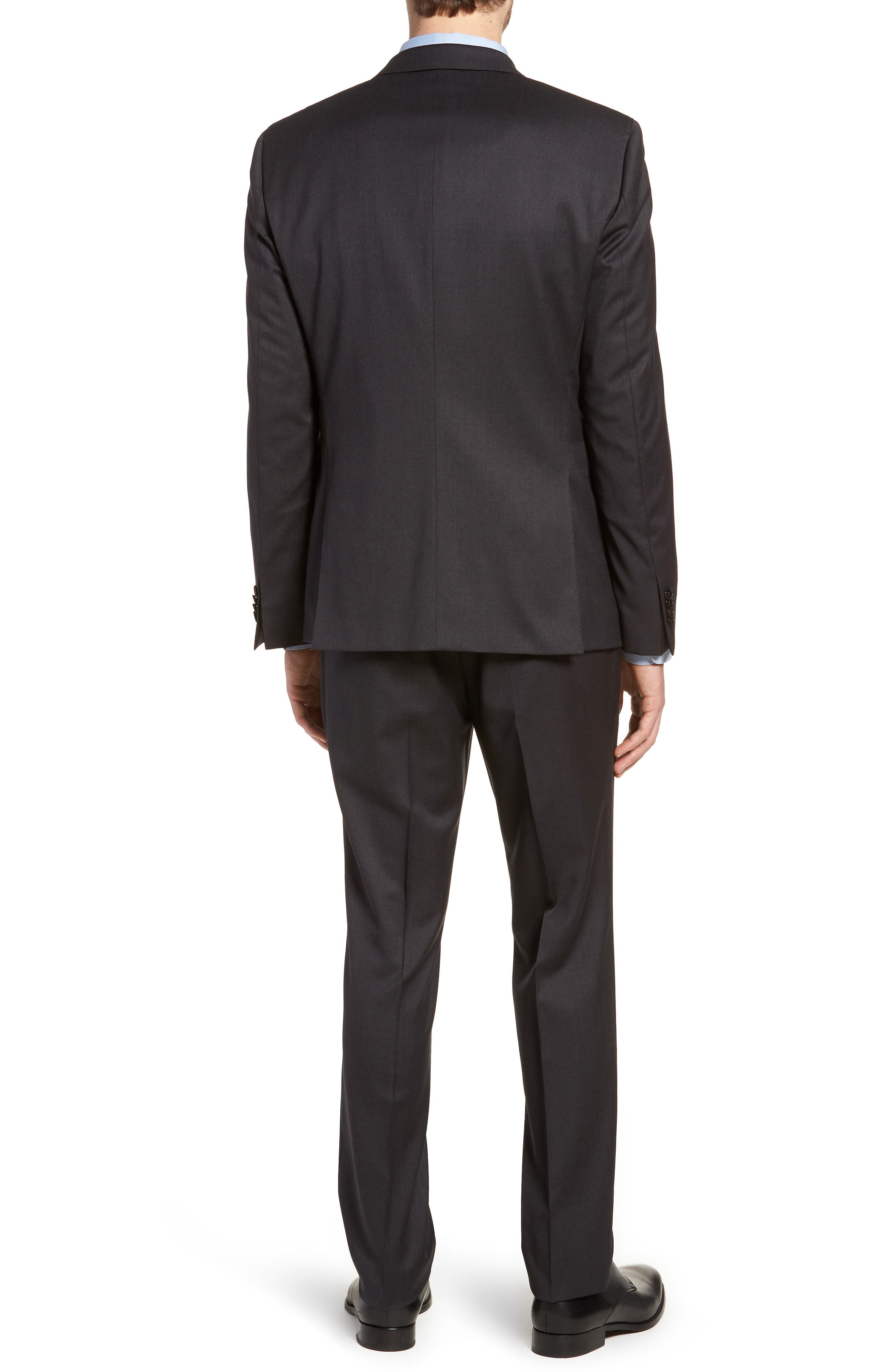 'Ryan/Win' Extra Trim Fit Solid Wool Suit,                             Alternate thumbnail 2, color,                             021