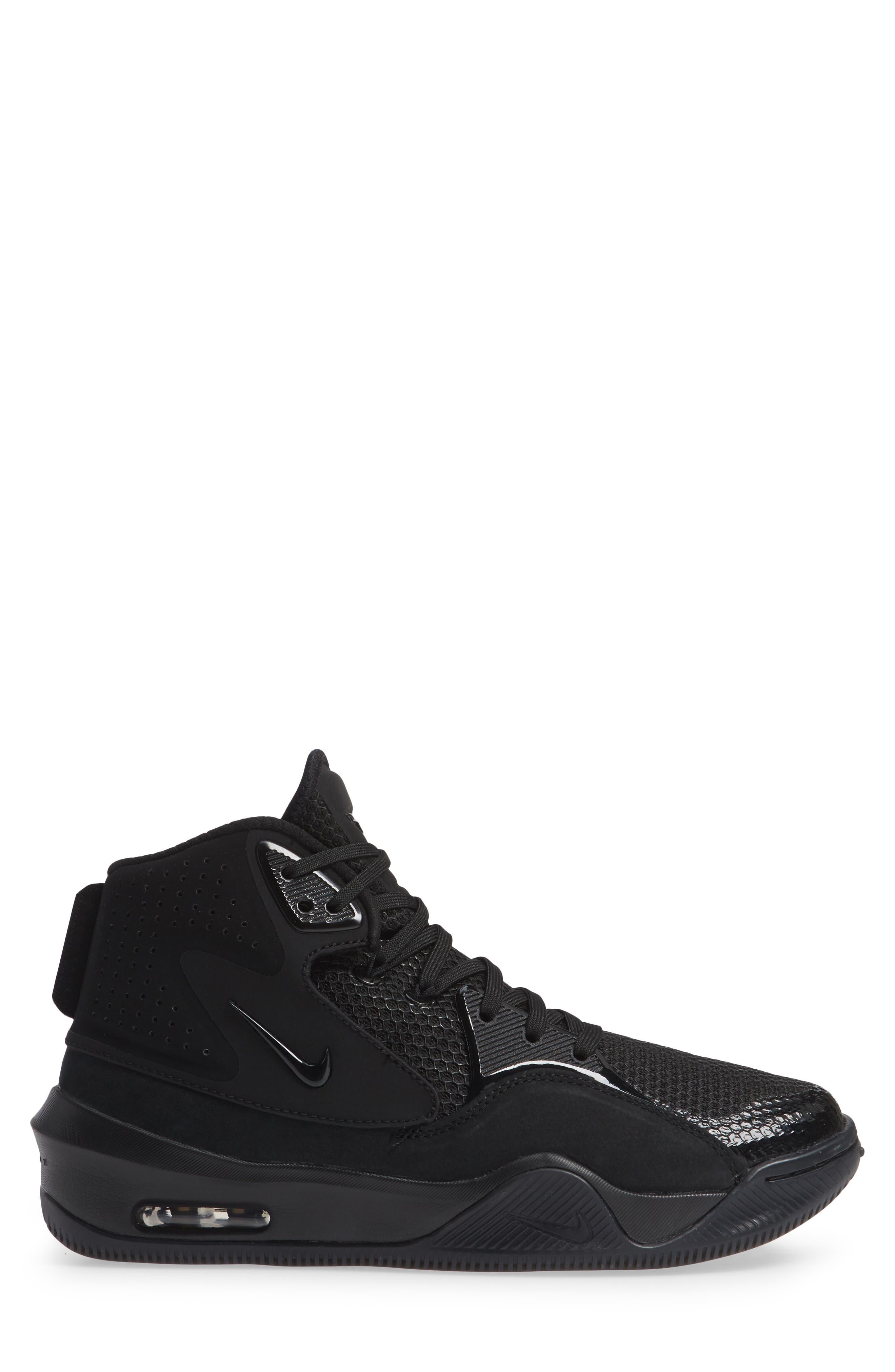 Dangeruss Wilson 1 Sneaker,                             Alternate thumbnail 3, color,                             BLACK/ METALLIC GOLD