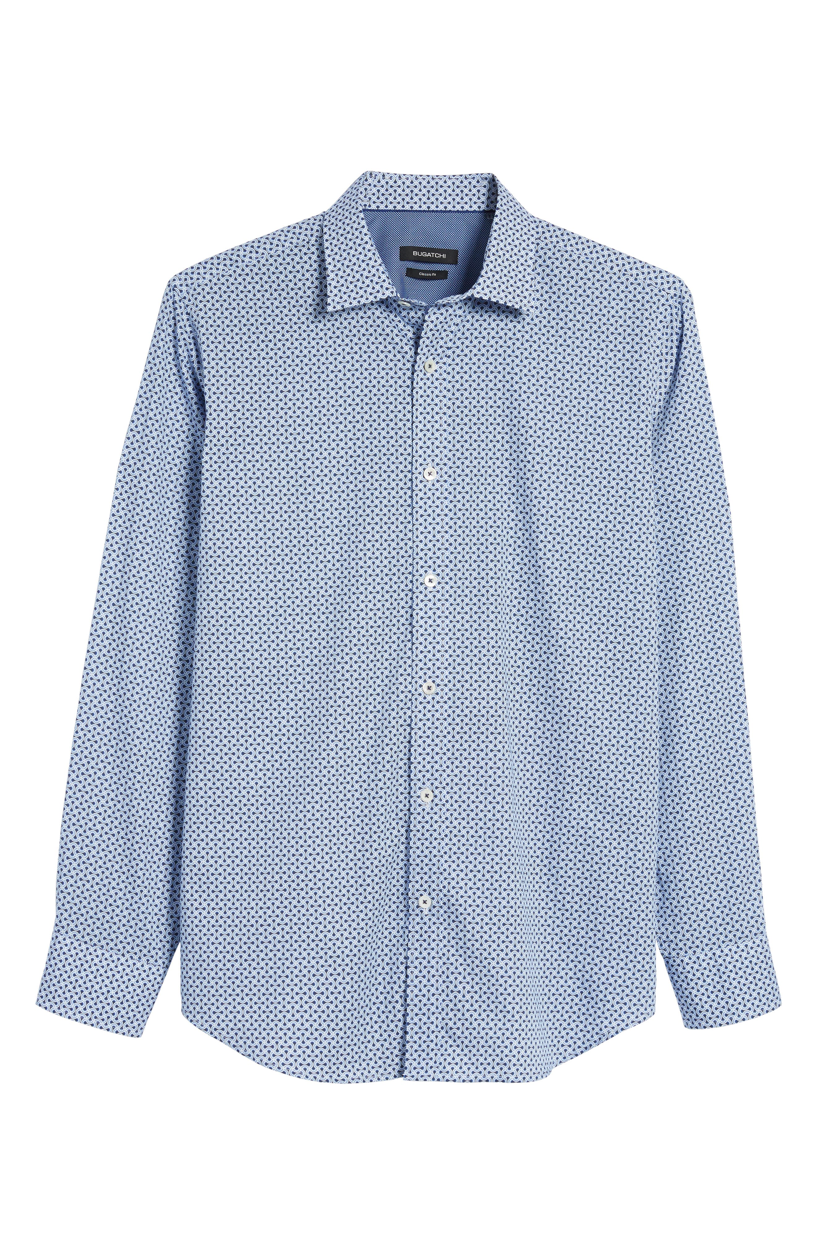 Classic Fit Print Sport Shirt,                             Alternate thumbnail 6, color,                             451