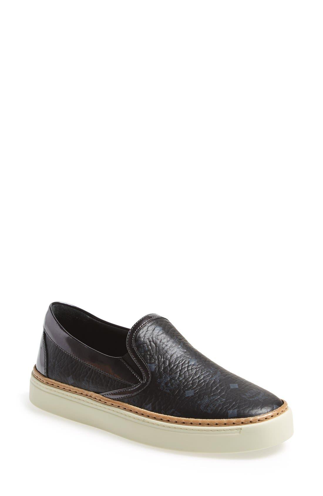 'Monogram' Slip-On Skate Sneaker, Main, color, 001