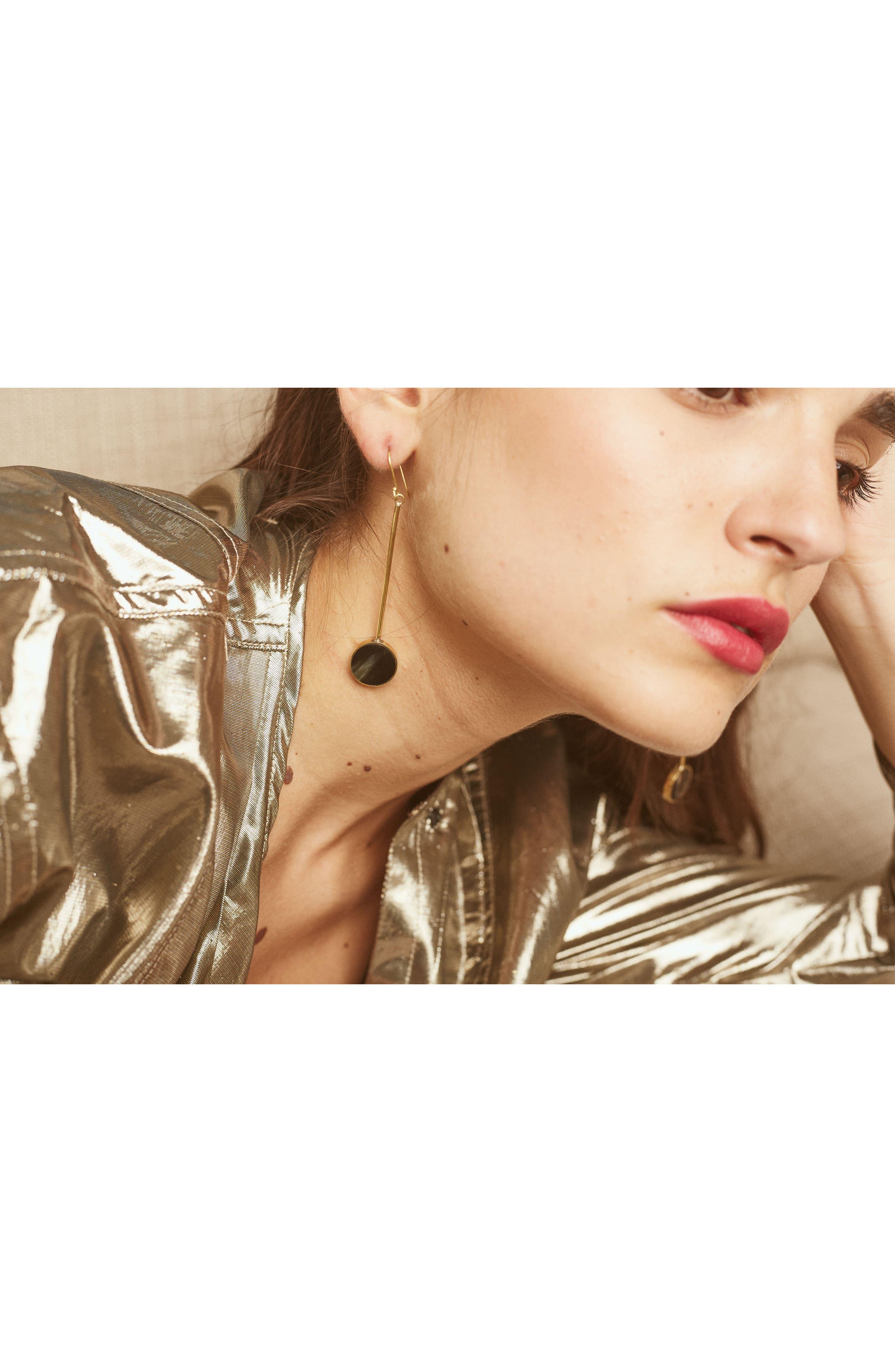 SOKO,                             Maxi Dot Drop Earrings,                             Alternate thumbnail 3, color,                             001