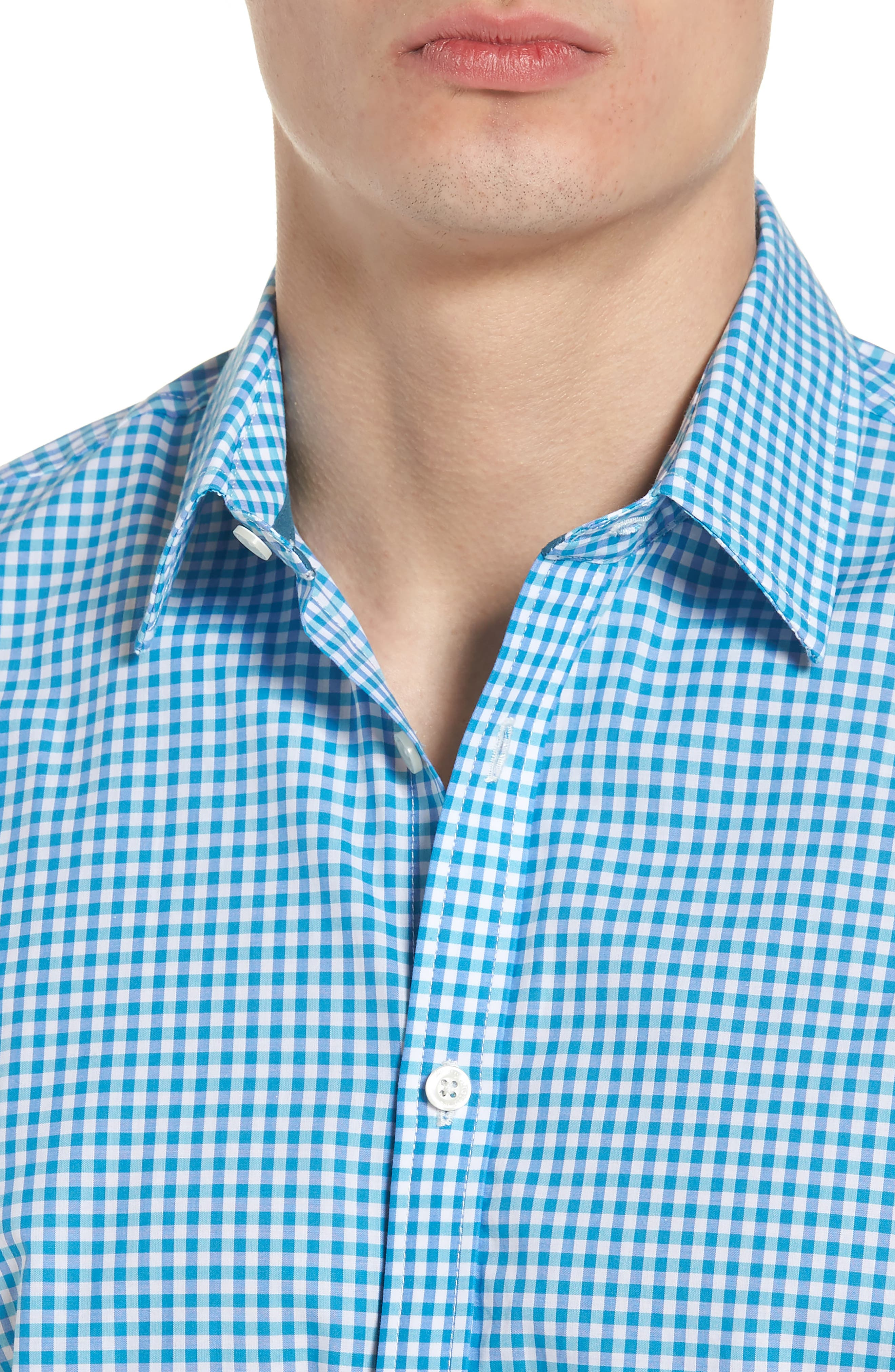 Slim Fit Check Sport Shirt,                             Alternate thumbnail 4, color,                             439