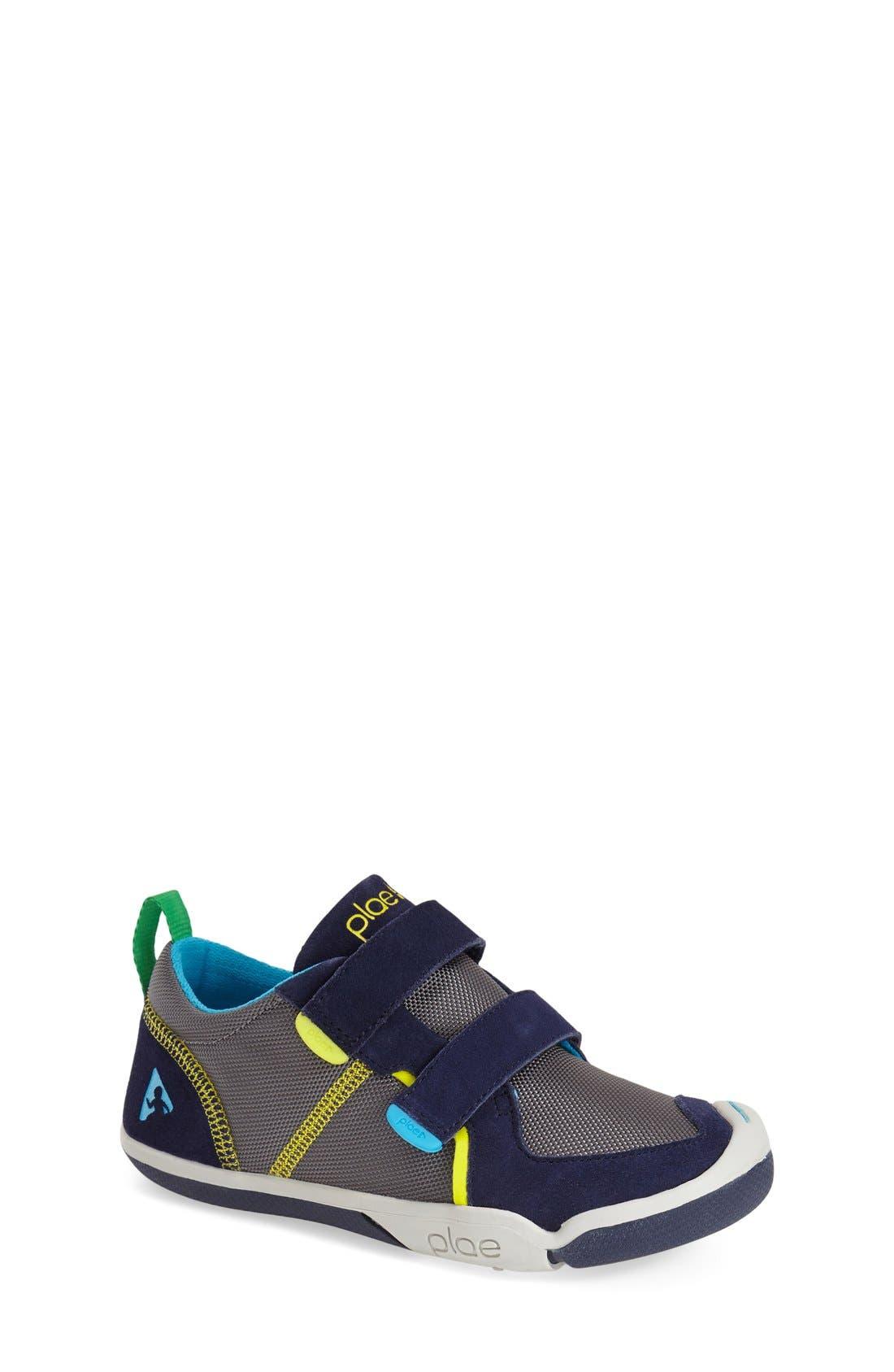 Ty Customizable Sneaker,                             Main thumbnail 1, color,                             NAVY/ STEEL