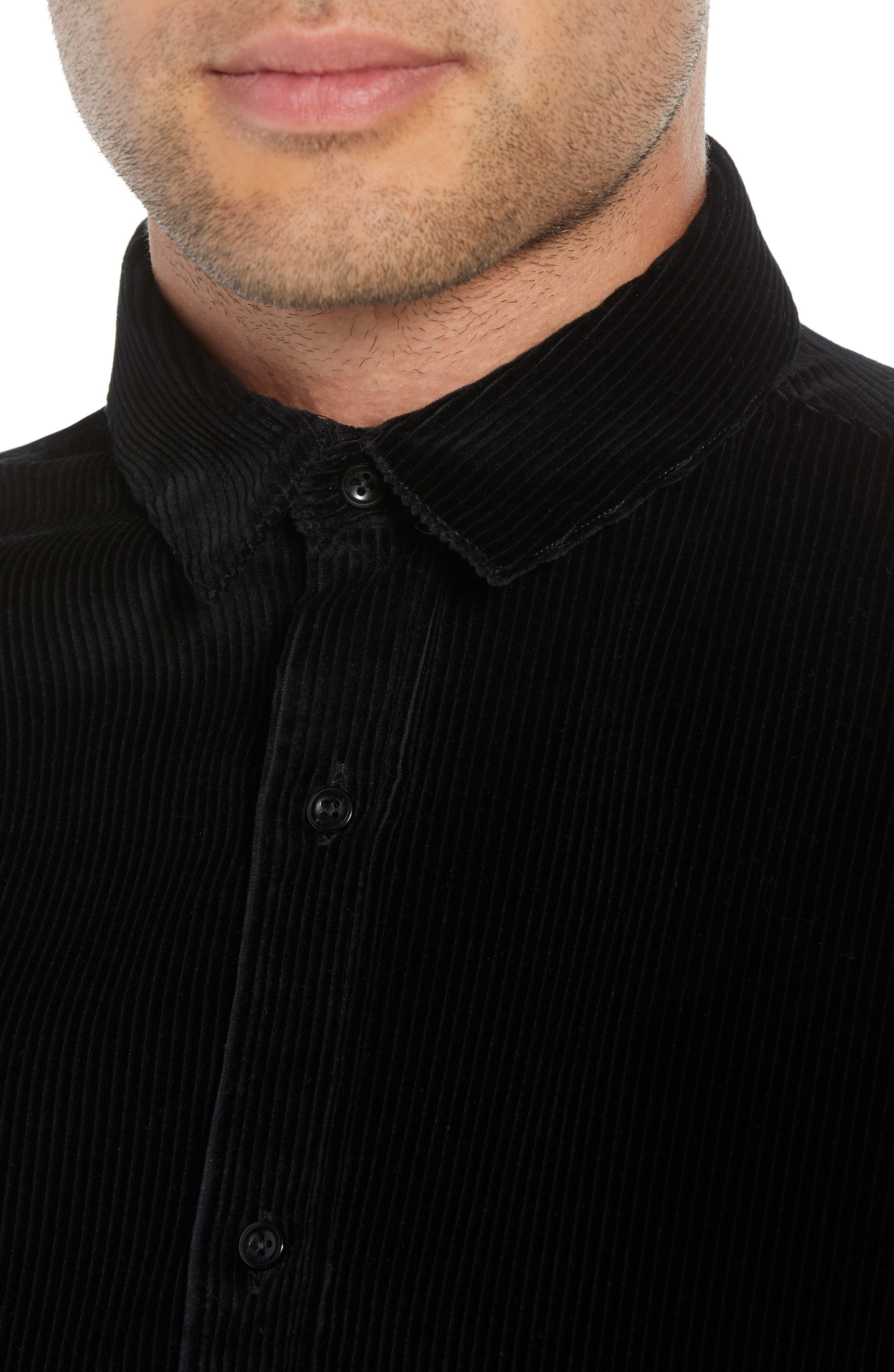 THE KOOPLES,                             Regular Fit Corduroy Shirt,                             Alternate thumbnail 2, color,                             001