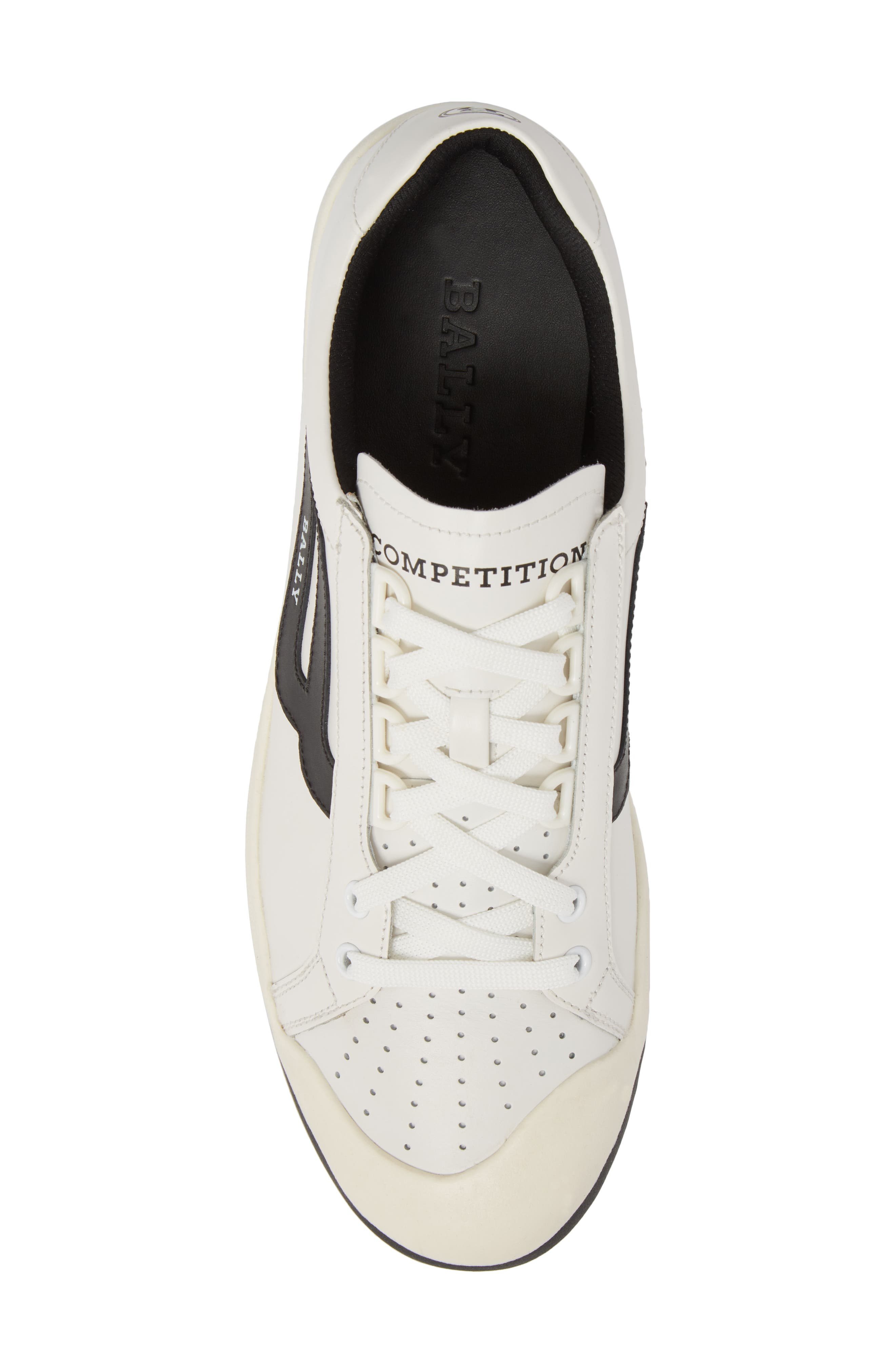 New Competition Sneaker,                             Alternate thumbnail 5, color,                             WHITE