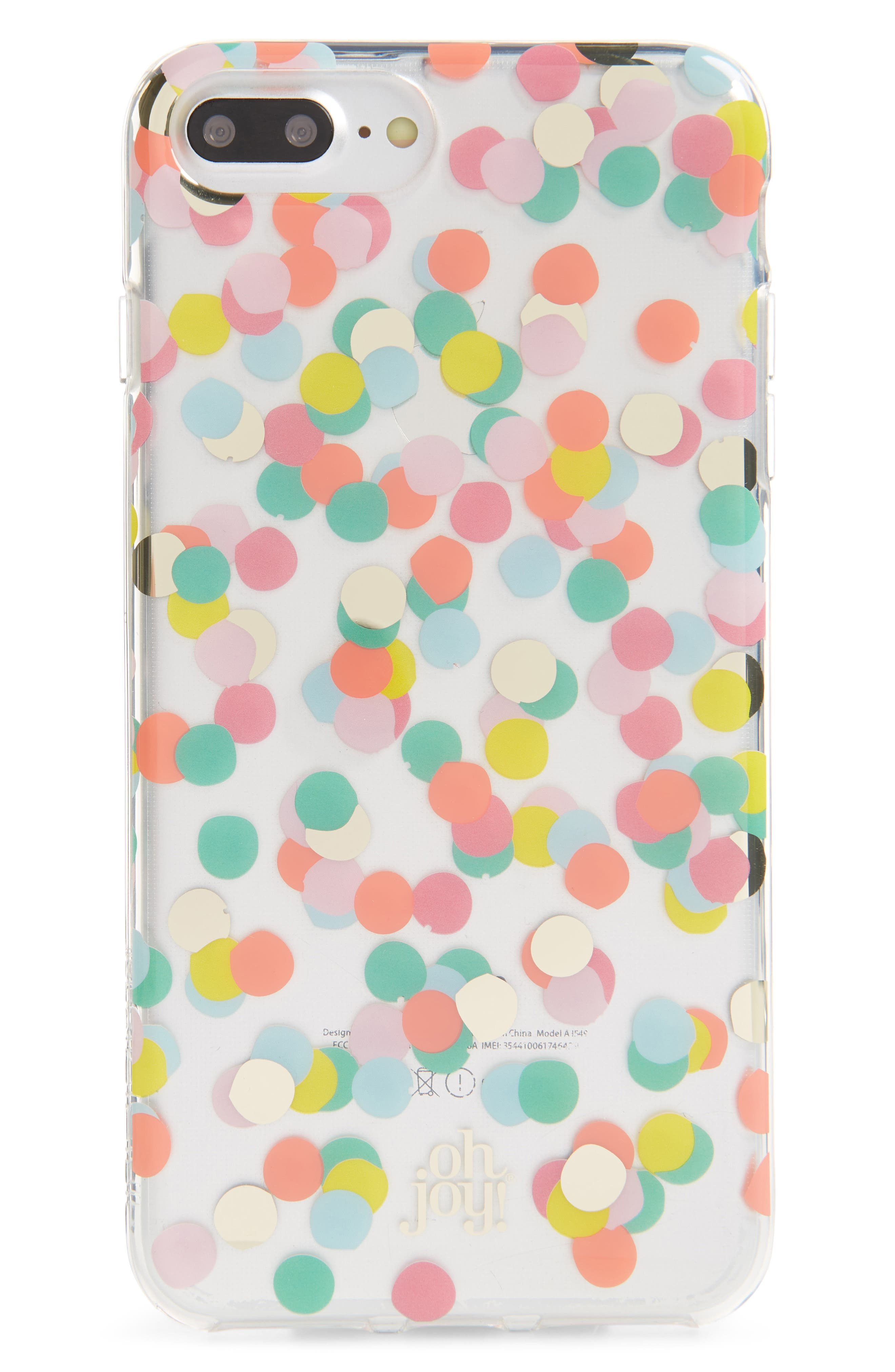 Oh Joy Confetti iPhone X & Xs Case,                             Main thumbnail 1, color,