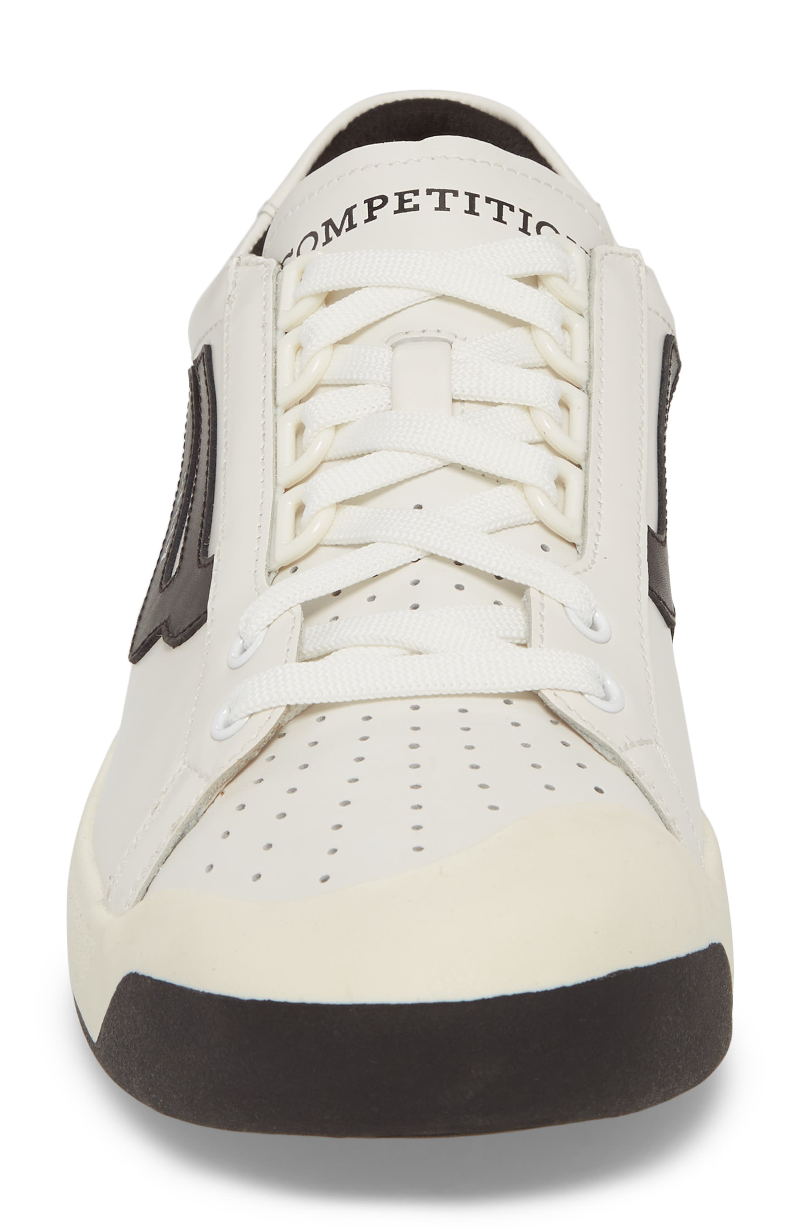New Competition Sneaker,                             Alternate thumbnail 4, color,                             WHITE
