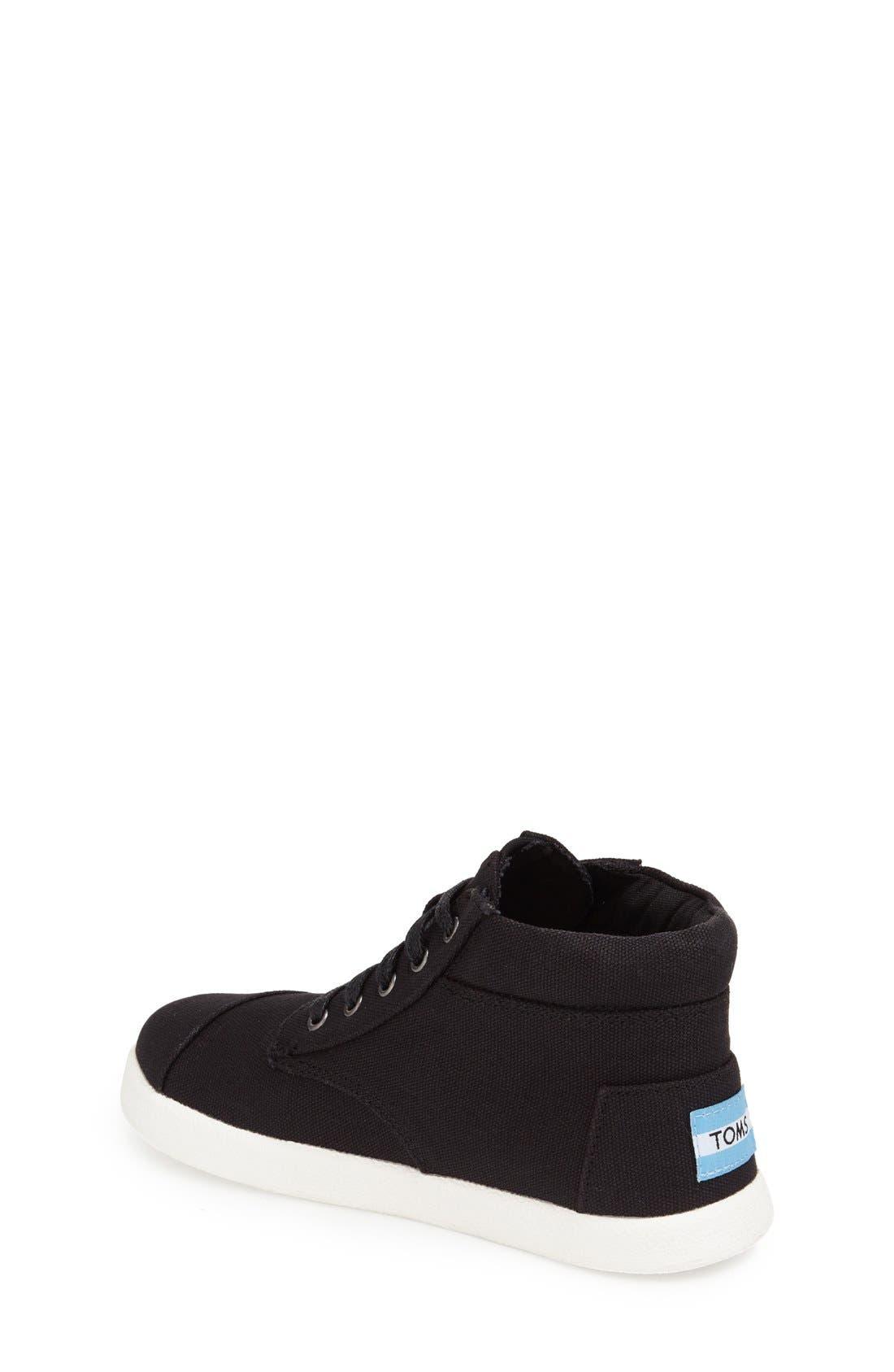 'Paseo' High Top Sneaker,                             Alternate thumbnail 2, color,                             BLACK