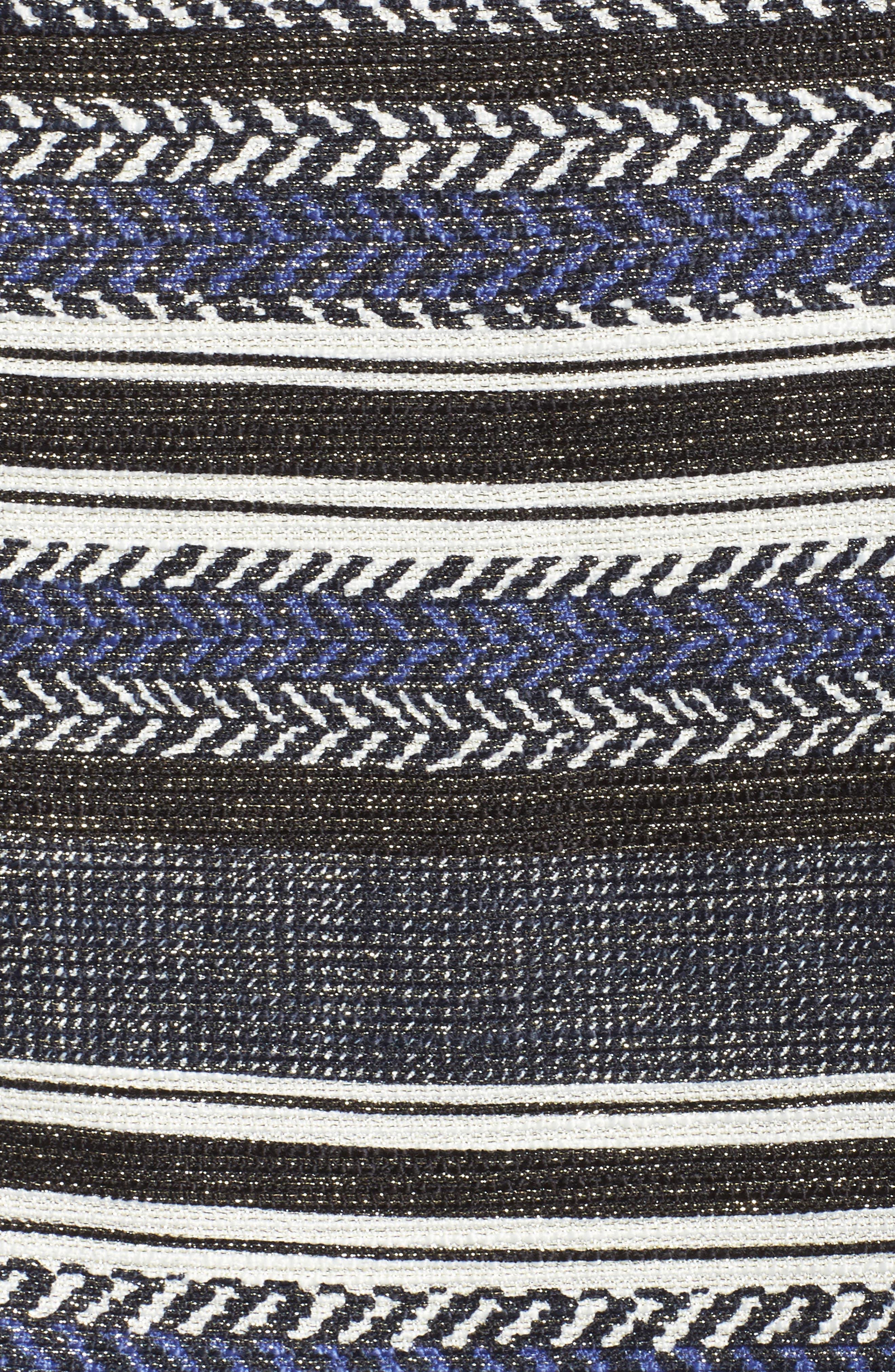 Stripe Sheath Dress,                             Alternate thumbnail 5, color,                             400