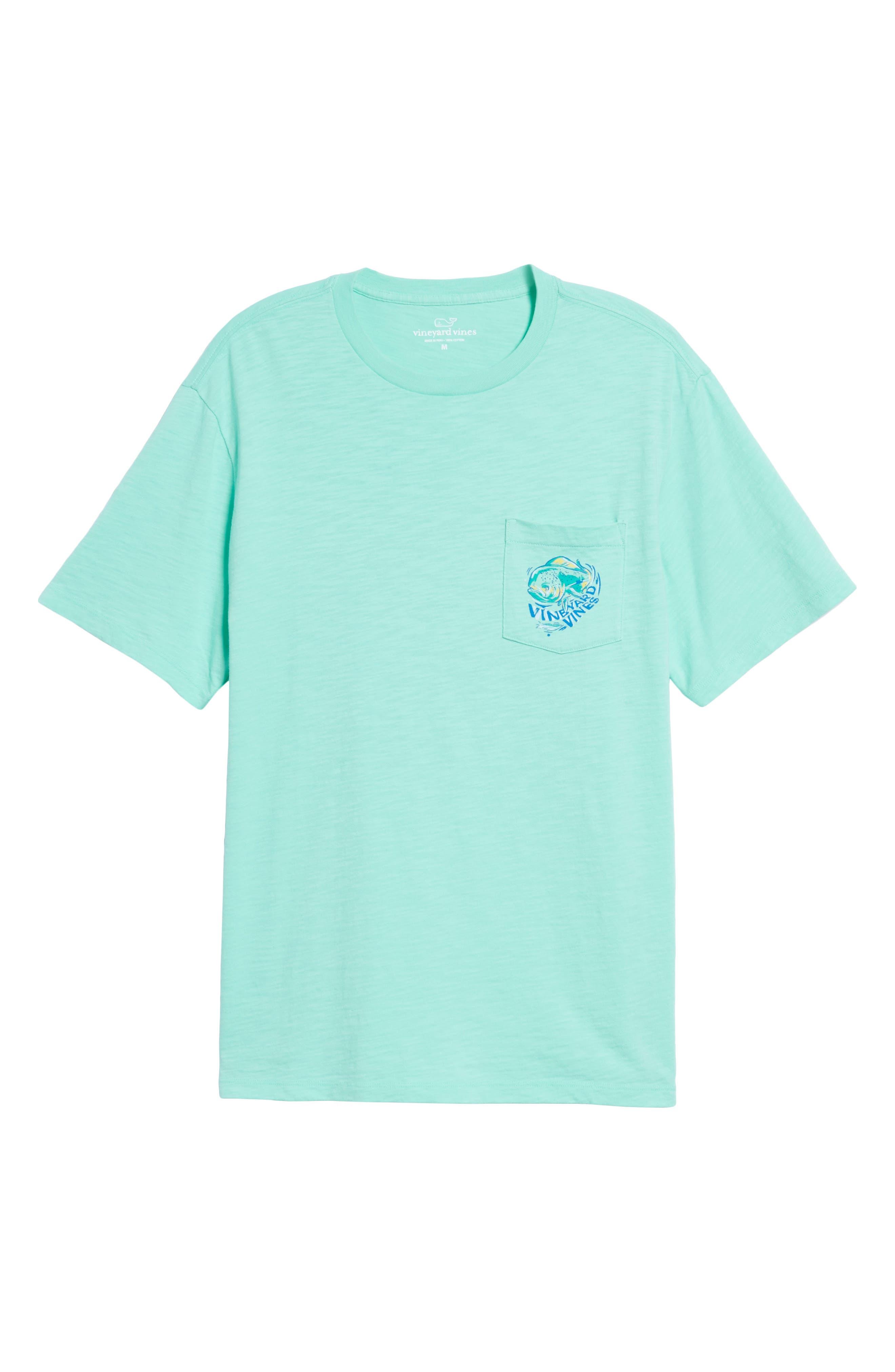 Painted Mahi Graphic Slub T-Shirt,                             Alternate thumbnail 6, color,