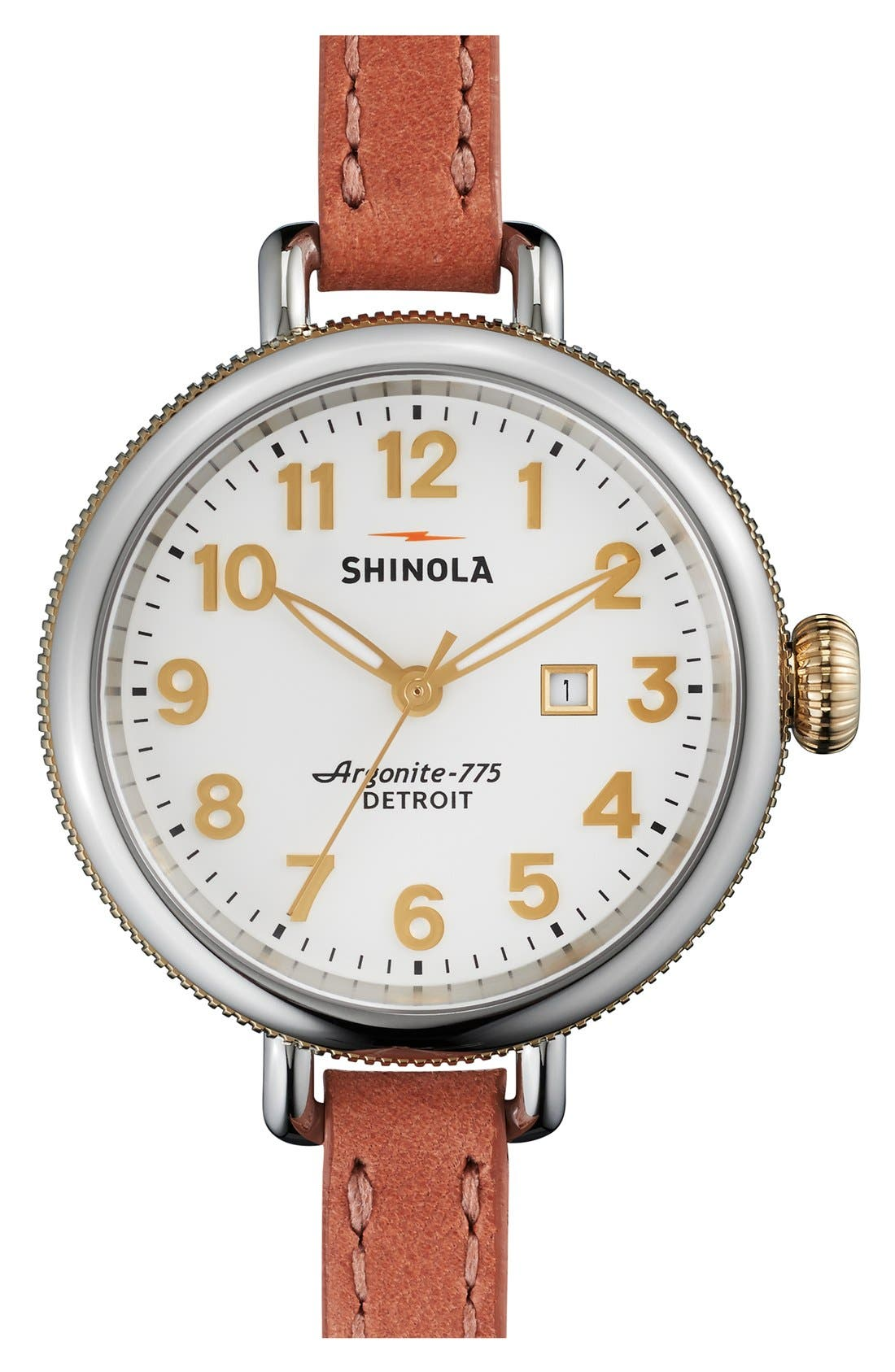 'The Birdy' Double Wrap Leather Strap Watch, 34mm,                             Main thumbnail 15, color,