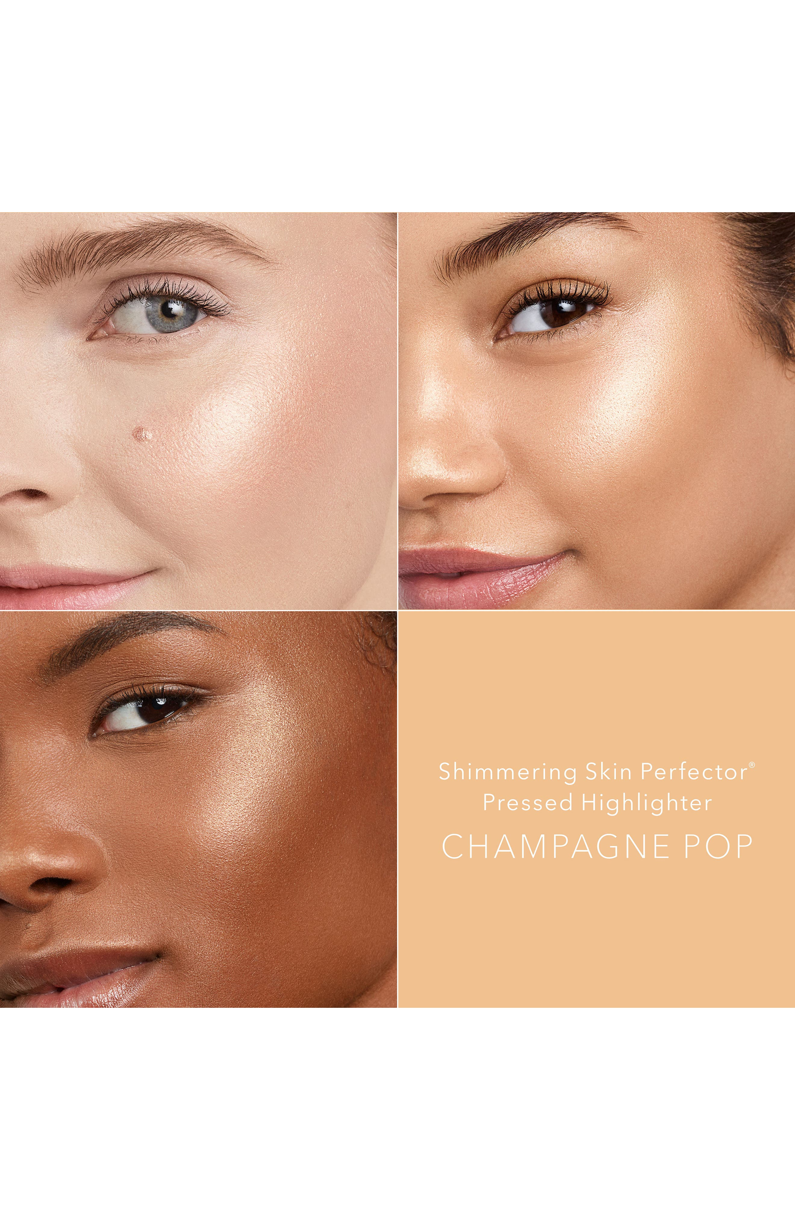 BECCA COSMETICS,                             BECCA Shimmering Skin Perfector Pressed Highlighter,                             Alternate thumbnail 2, color,                             CHAMPAGNE POP / MINI