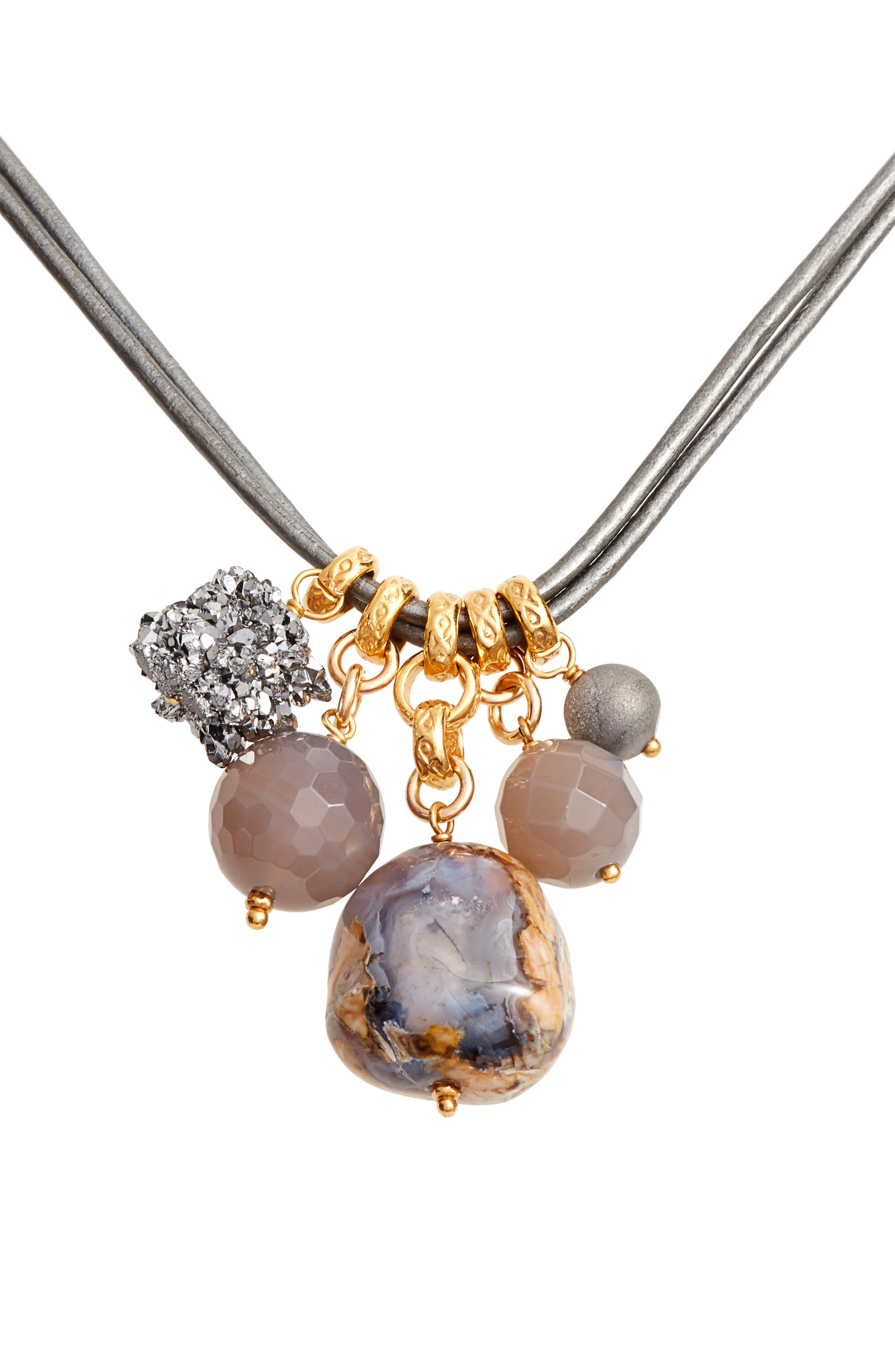 Multistone Short Necklace,                             Main thumbnail 1, color,                             020