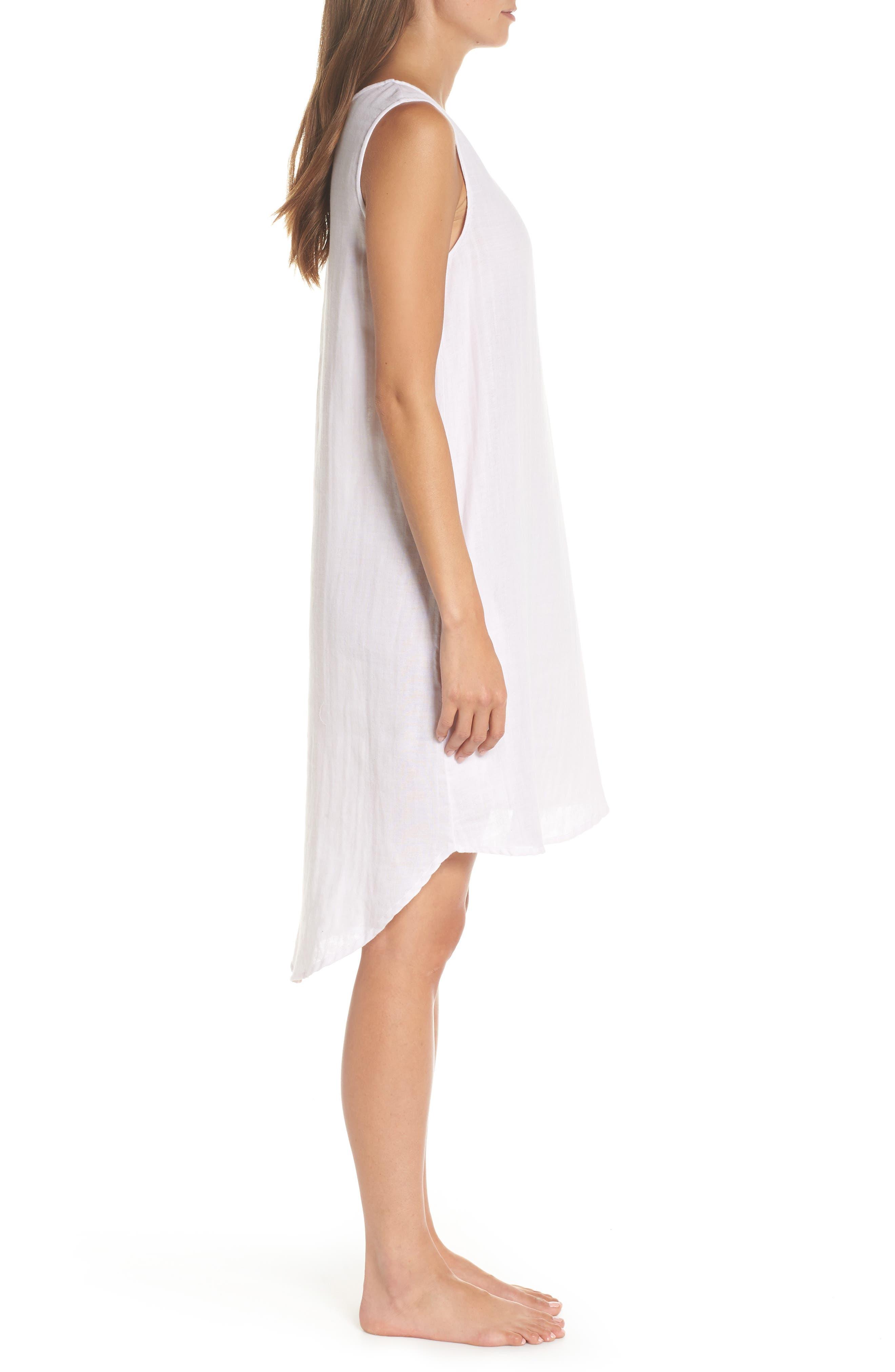 Basic Stripe Nightgown,                             Alternate thumbnail 3, color,                             110