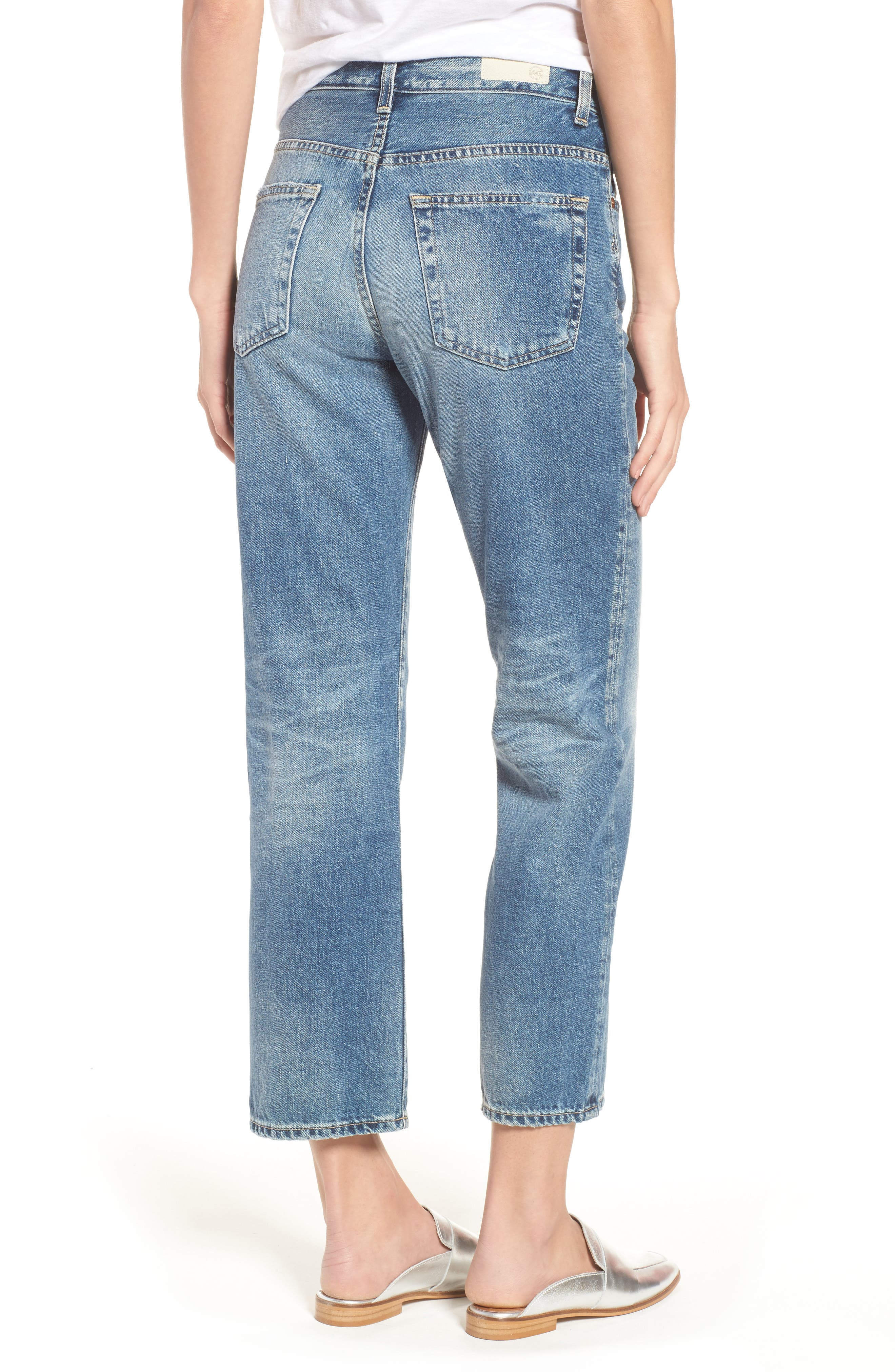 The Rhett Vintage High Waist Crop Jeans,                             Alternate thumbnail 7, color,