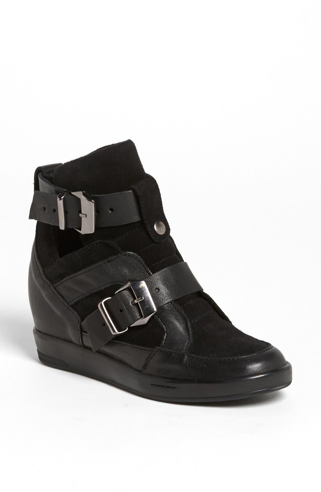 'Lucas' Wedge Sneaker, Main, color, 001