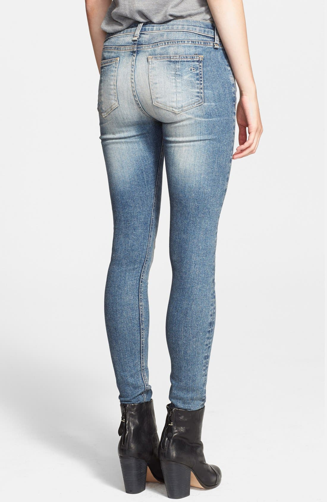 'The Skinny' Stretch Jeans,                             Alternate thumbnail 24, color,