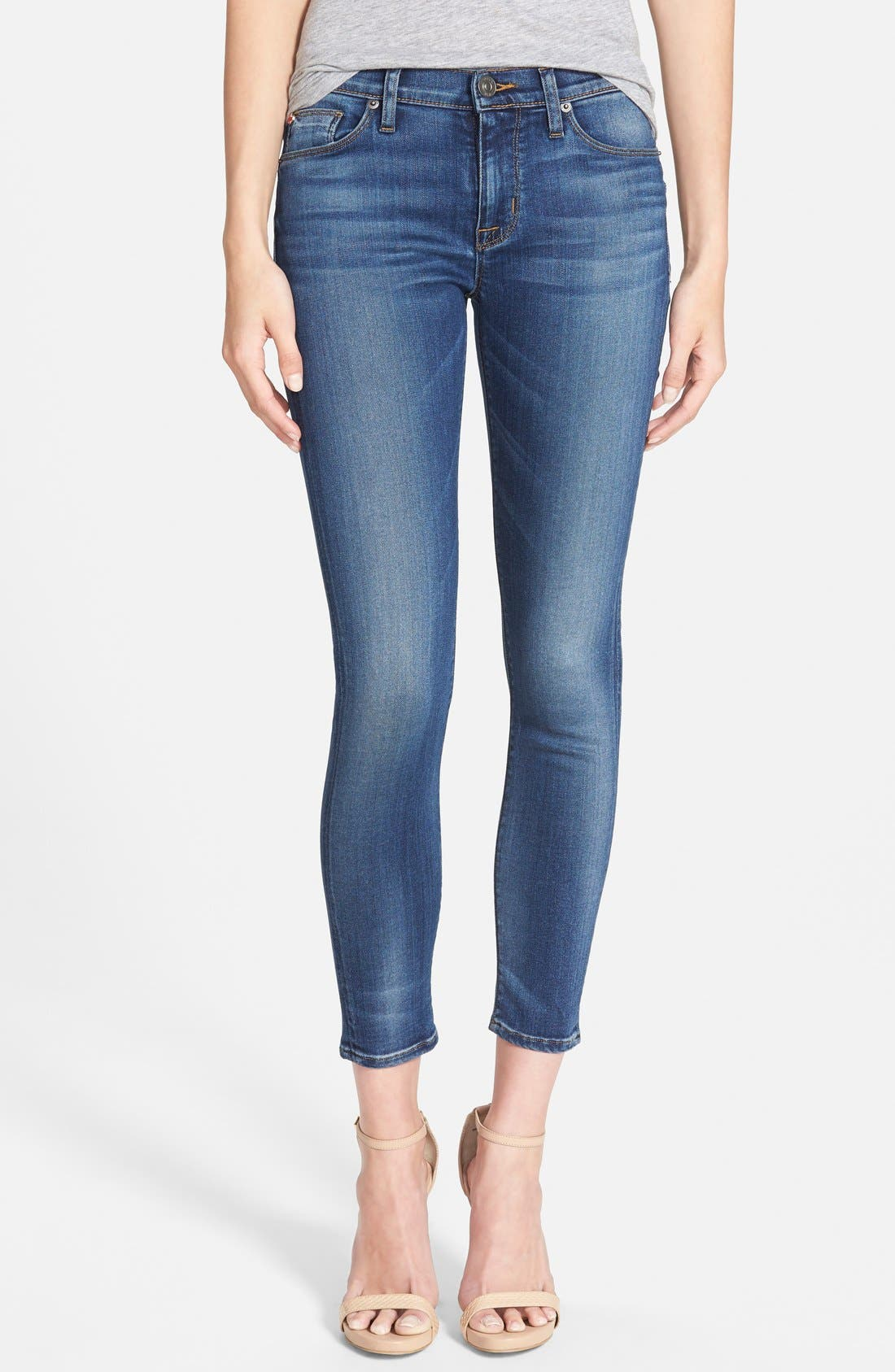'Nico' Ankle Skinny Jeans,                             Main thumbnail 4, color,
