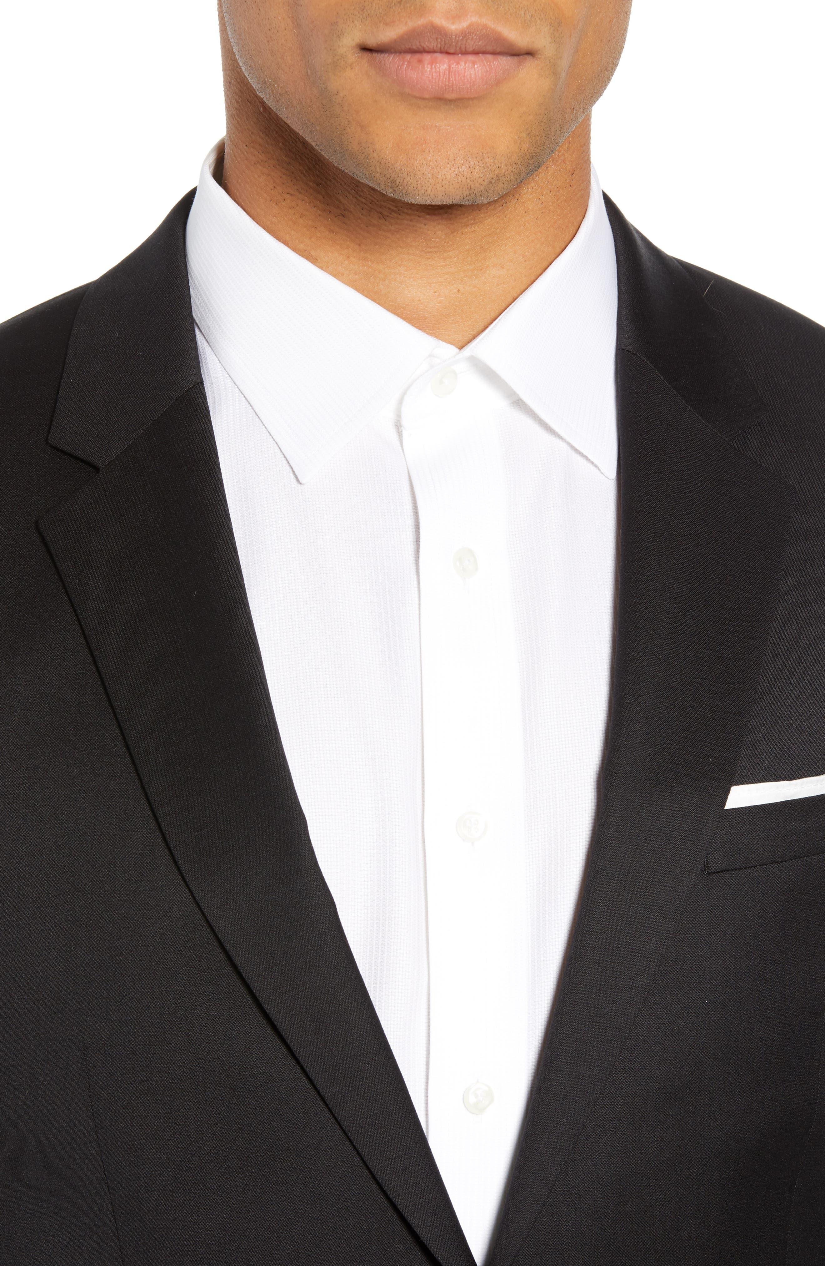 Aldon Extra Slim Fit Blazer,                             Alternate thumbnail 4, color,                             BLACK