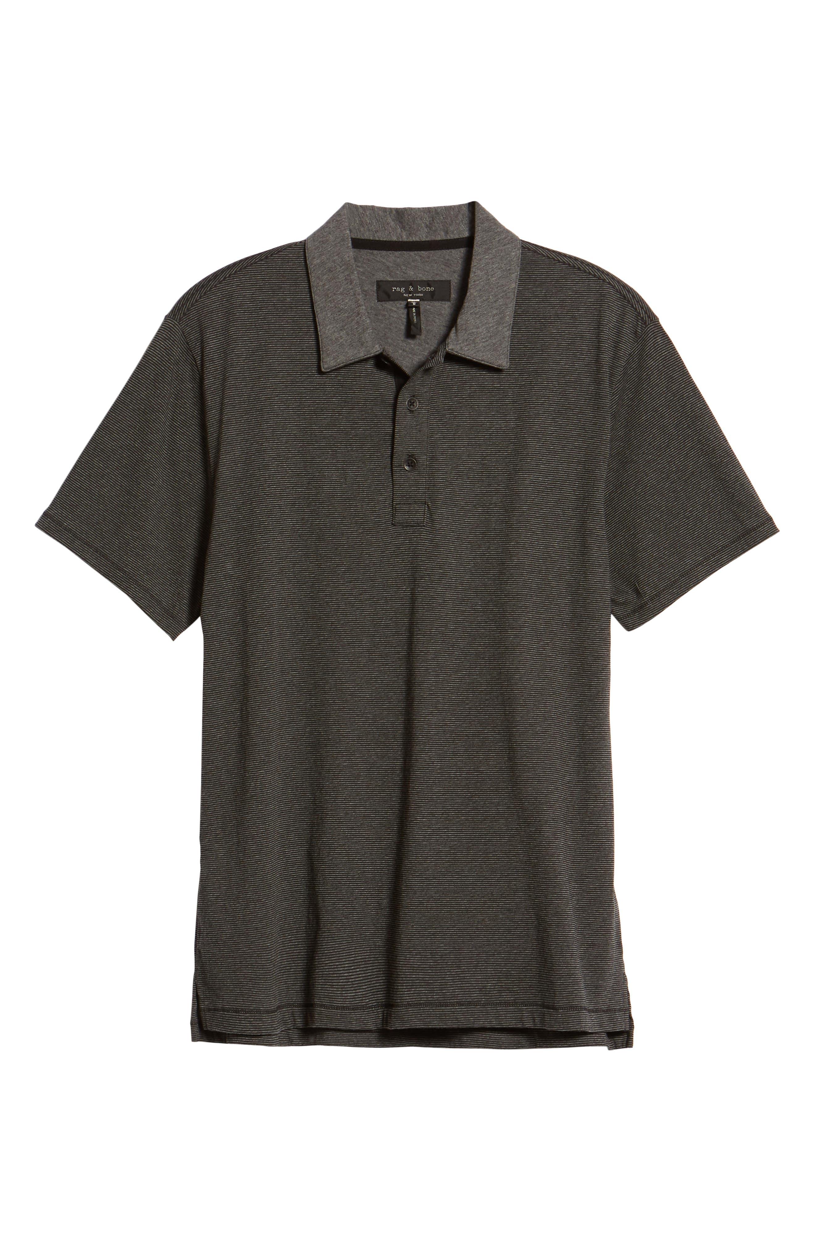 Stripe Cotton Polo Shirt,                             Alternate thumbnail 6, color,                             010