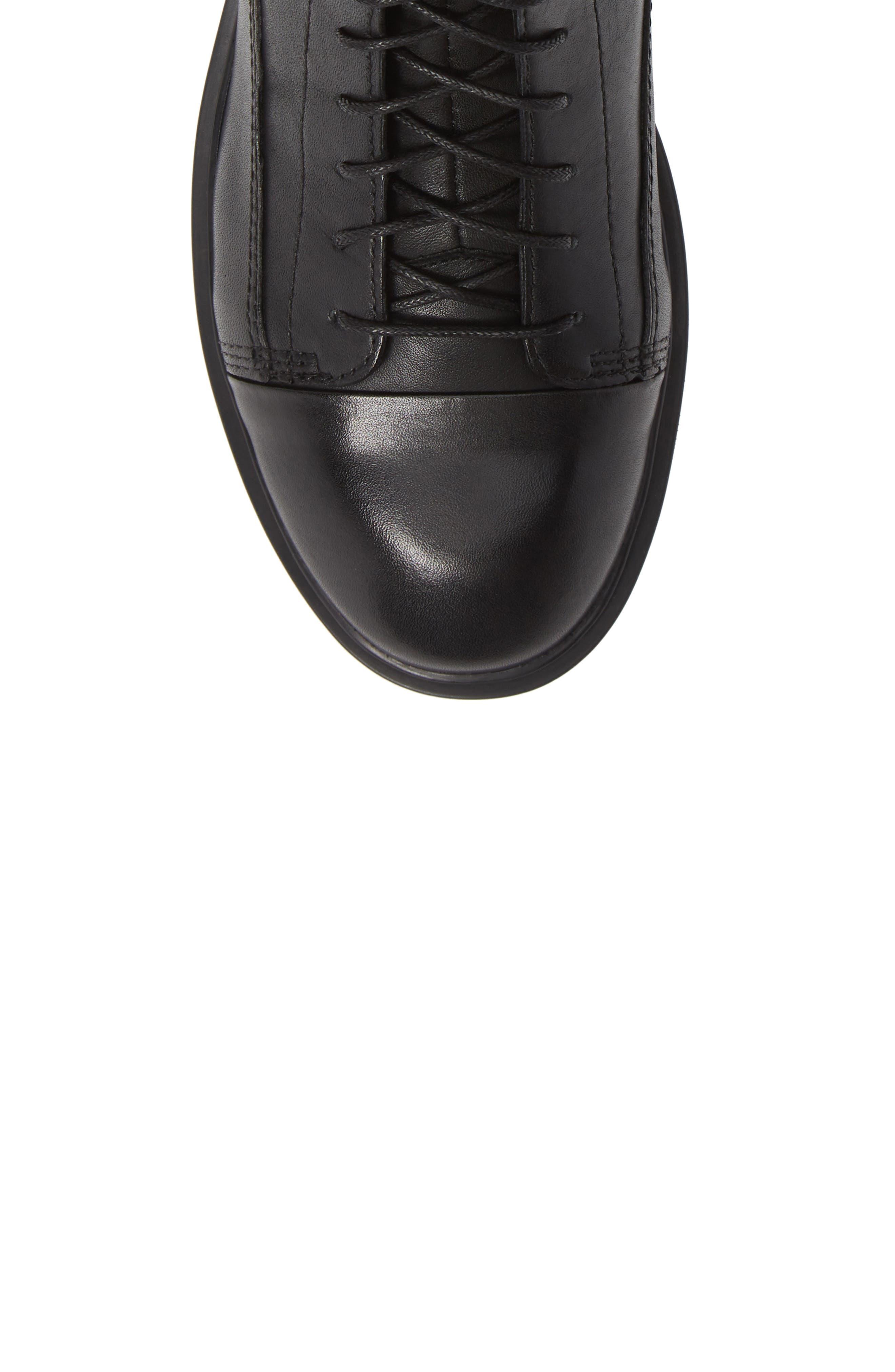 Shoemakers Diane Lace-Up Bootie,                             Alternate thumbnail 5, color,                             BLACK LEATHER