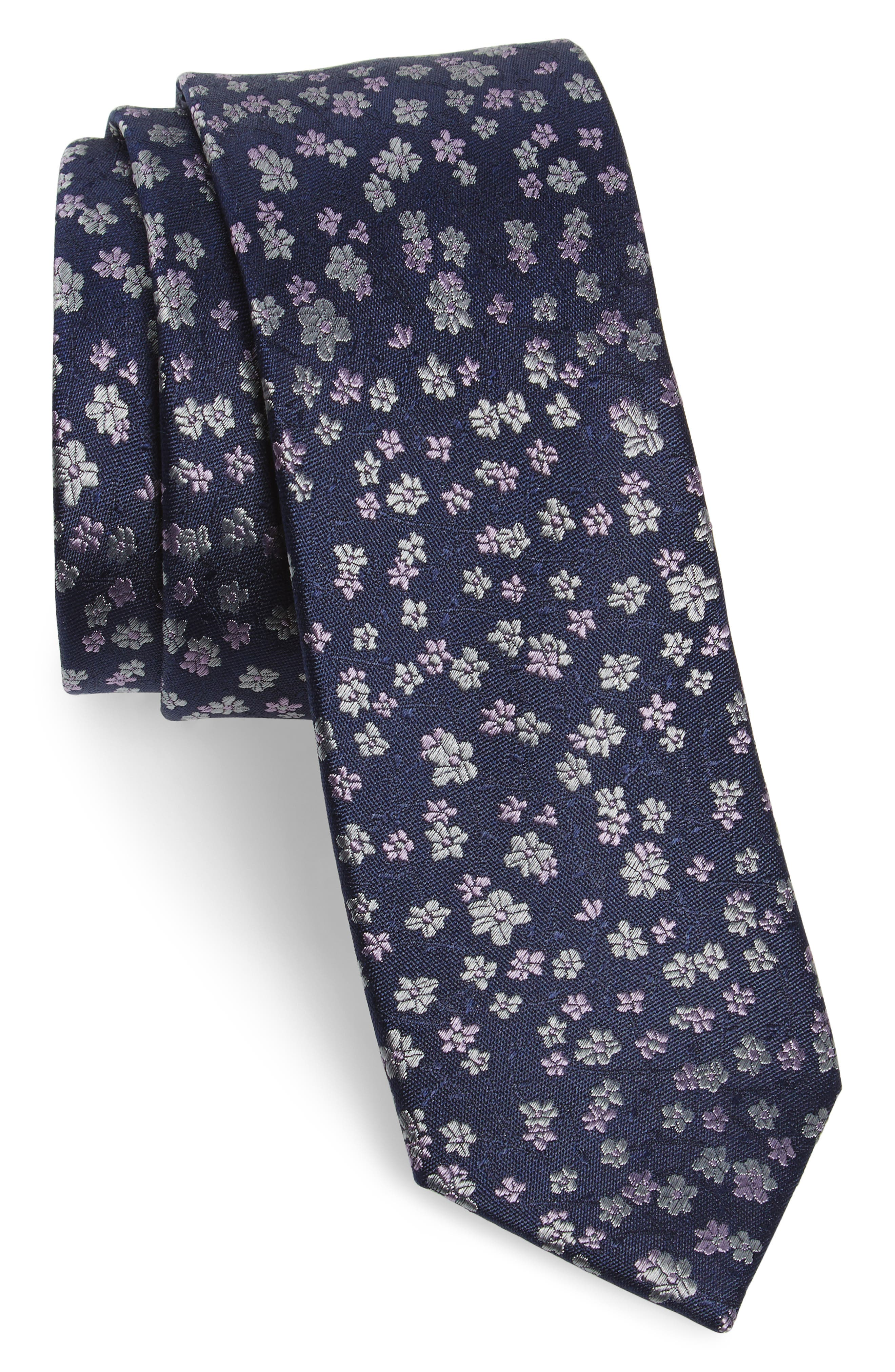 Freefall Floral Silk Tie,                             Main thumbnail 6, color,