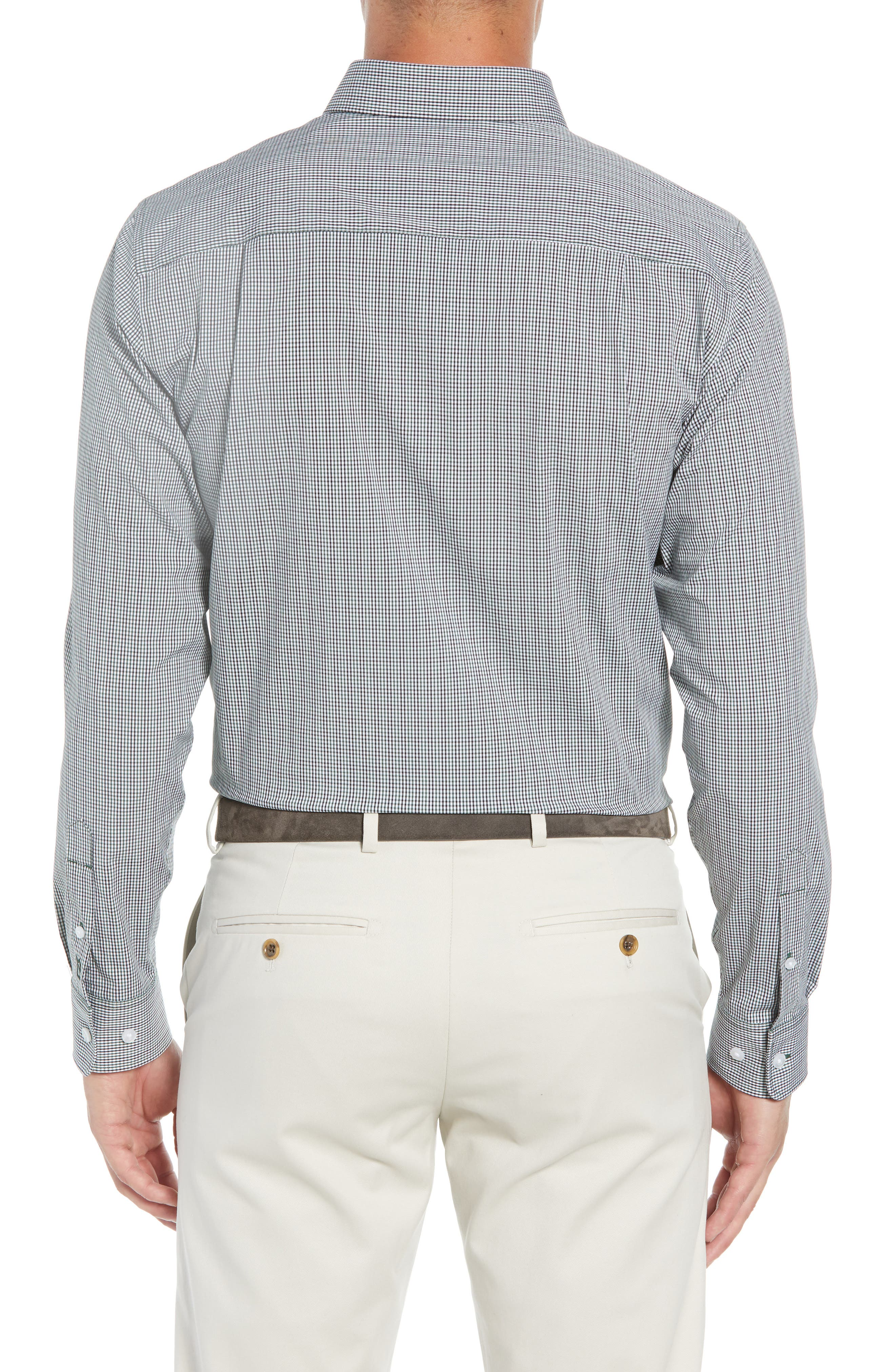 Casey Regular Fit Check Sport Shirt,                             Alternate thumbnail 3, color,                             HUNTER