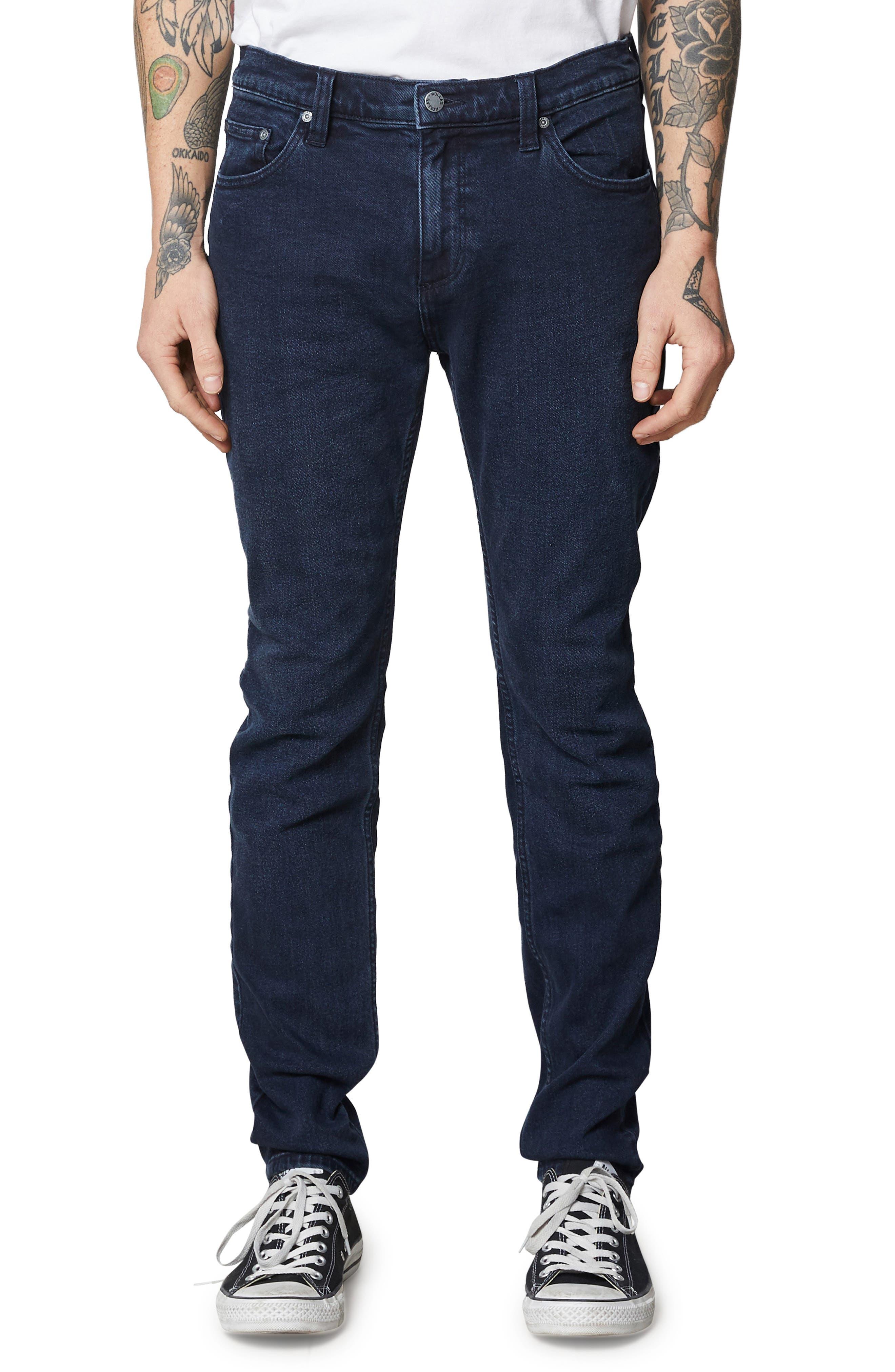 Stinger Skinny Fit Jeans,                             Main thumbnail 1, color,                             STONE FREE BLACK