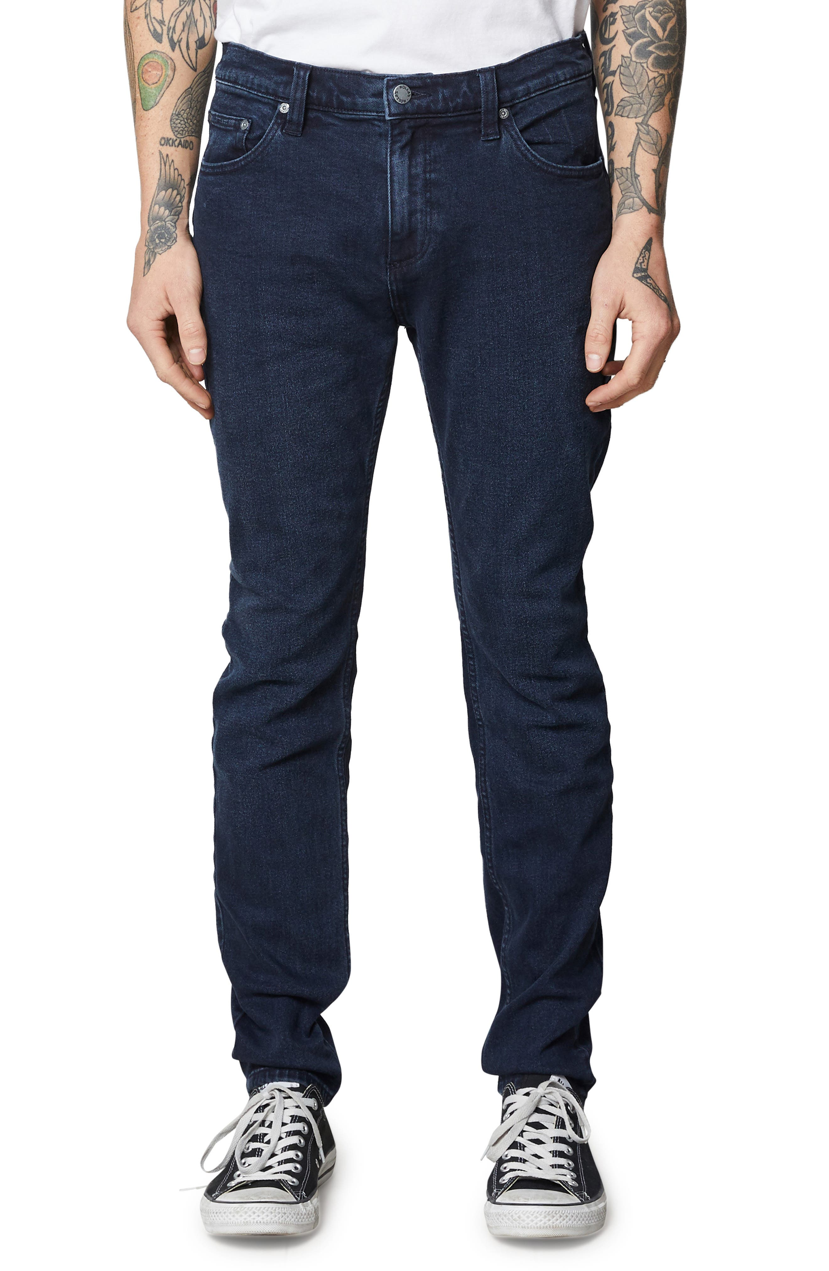 Stinger Skinny Fit Jeans,                         Main,                         color, STONE FREE BLACK