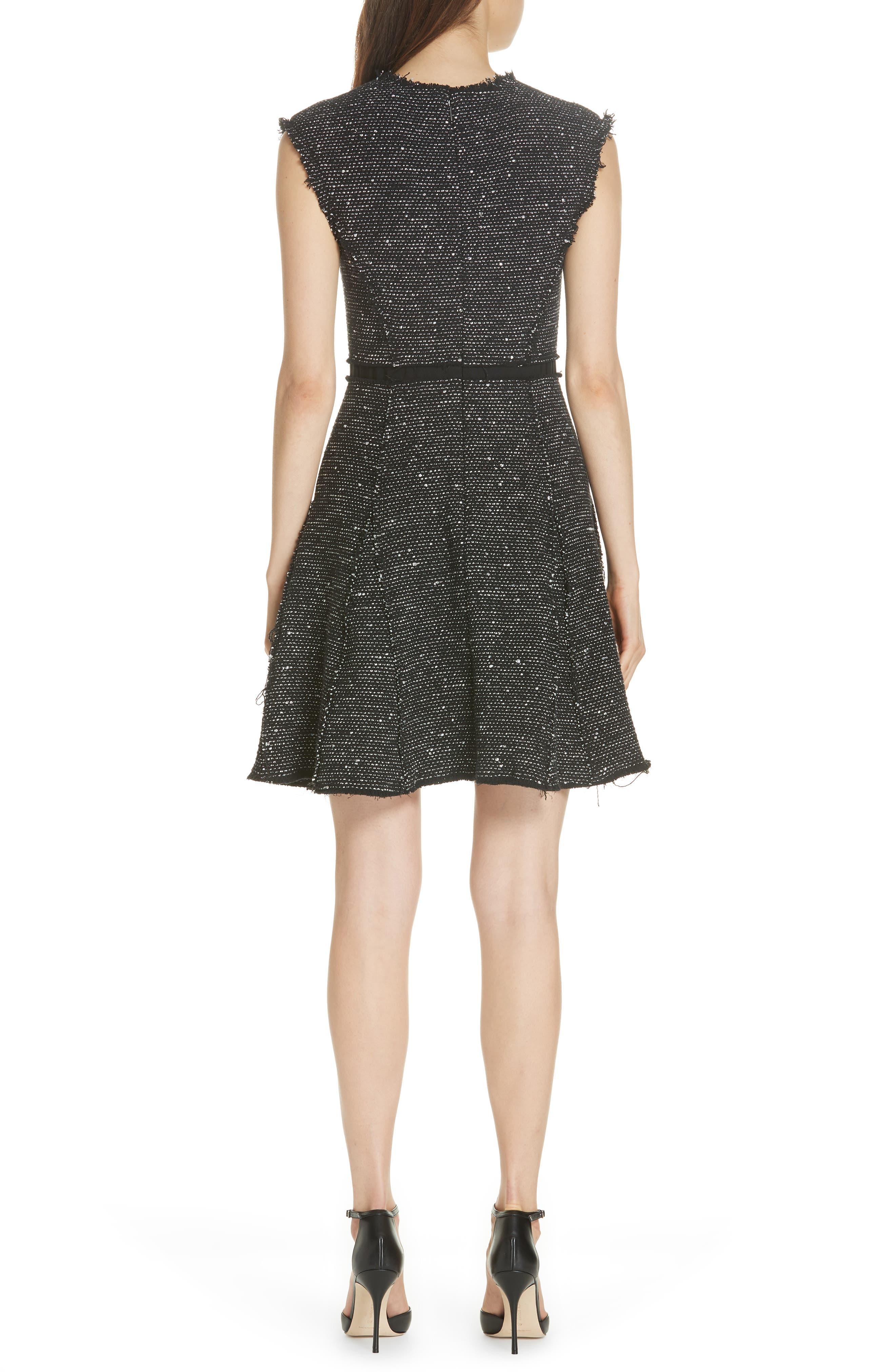 Sparkle Stretch Dress,                             Alternate thumbnail 2, color,                             BLACK