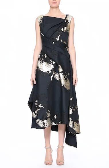 Jacquard Draped Asymmetrical Dress, video thumbnail