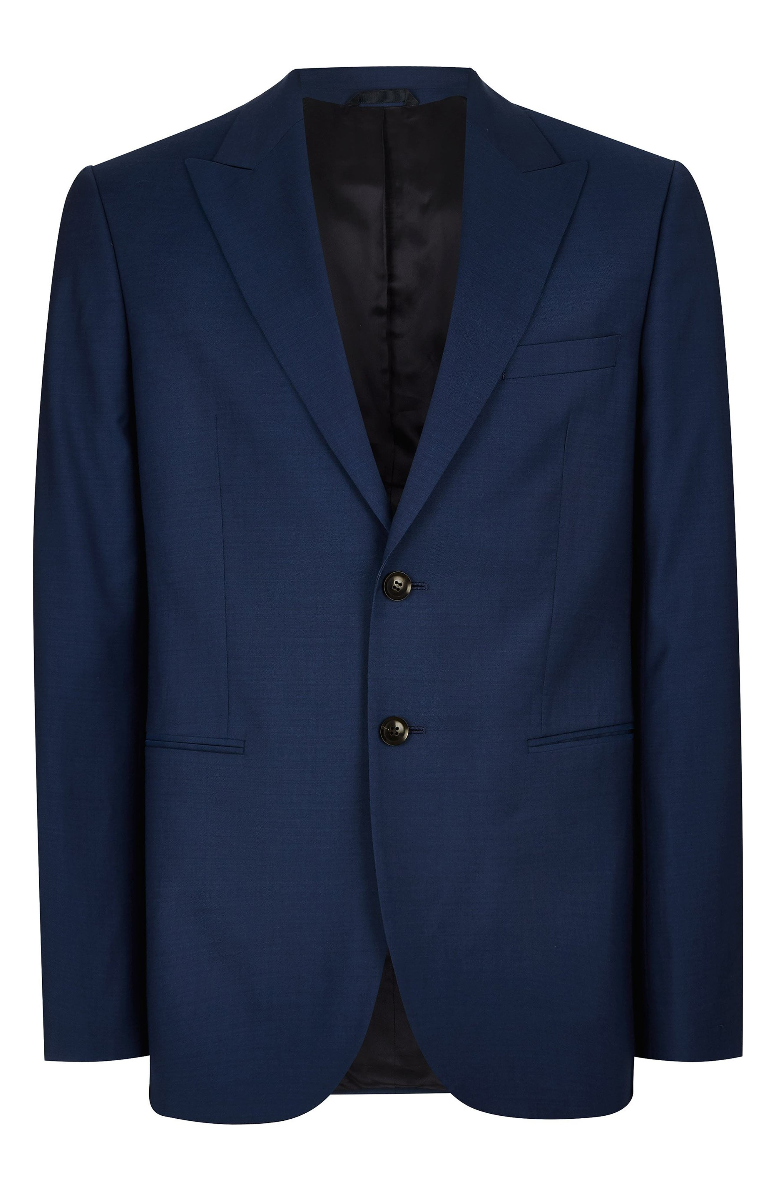 Casely Hayford Skinny Fit Suit Jacket,                             Alternate thumbnail 3, color,                             NAVY BLUE