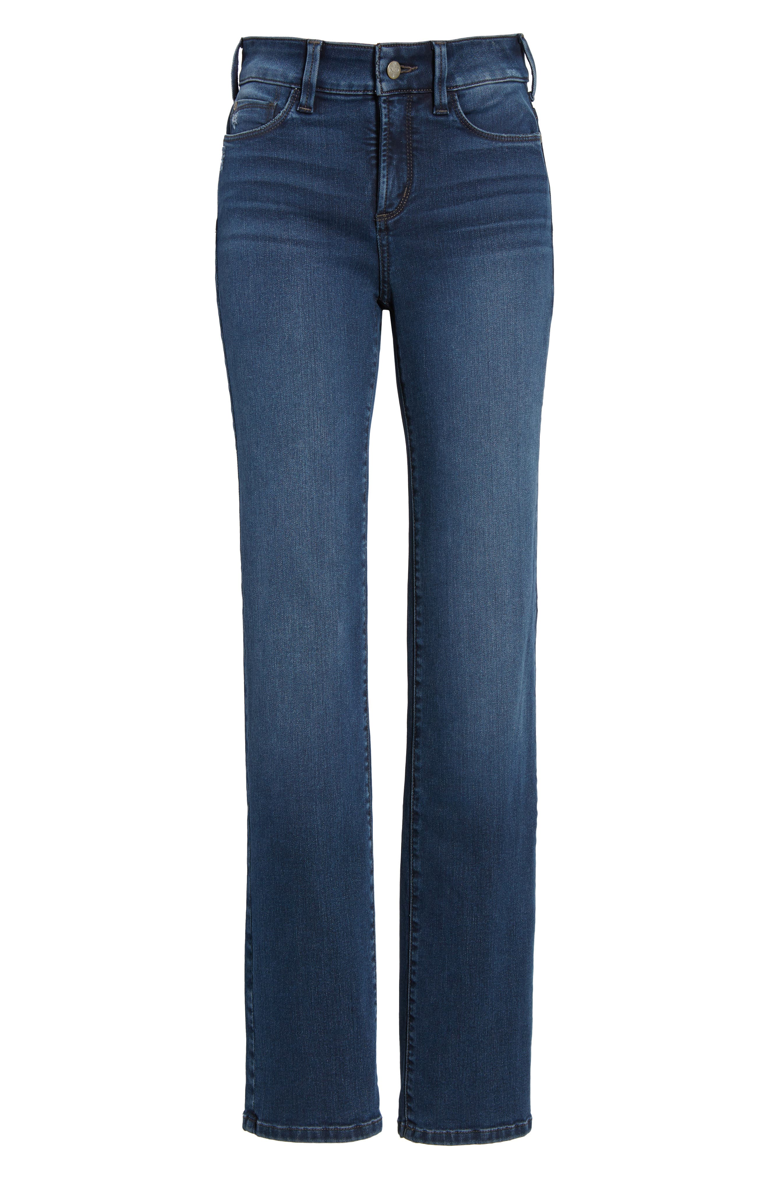 Marilyn Stretch Straight Leg Jeans,                             Alternate thumbnail 6, color,                             406