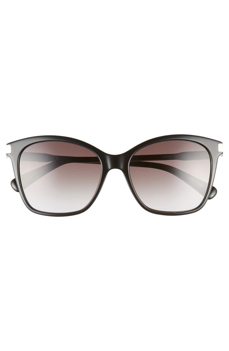 bda41e03cb Shop Longchamp Le Pliage 54Mm Butterfly Sunglasses - Black
