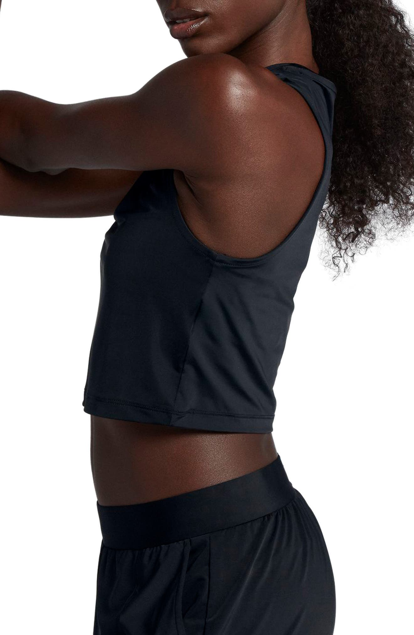 Running Division Women's Cropped Running Top,                             Alternate thumbnail 3, color,                             BLACK/ REFLECT BLACK