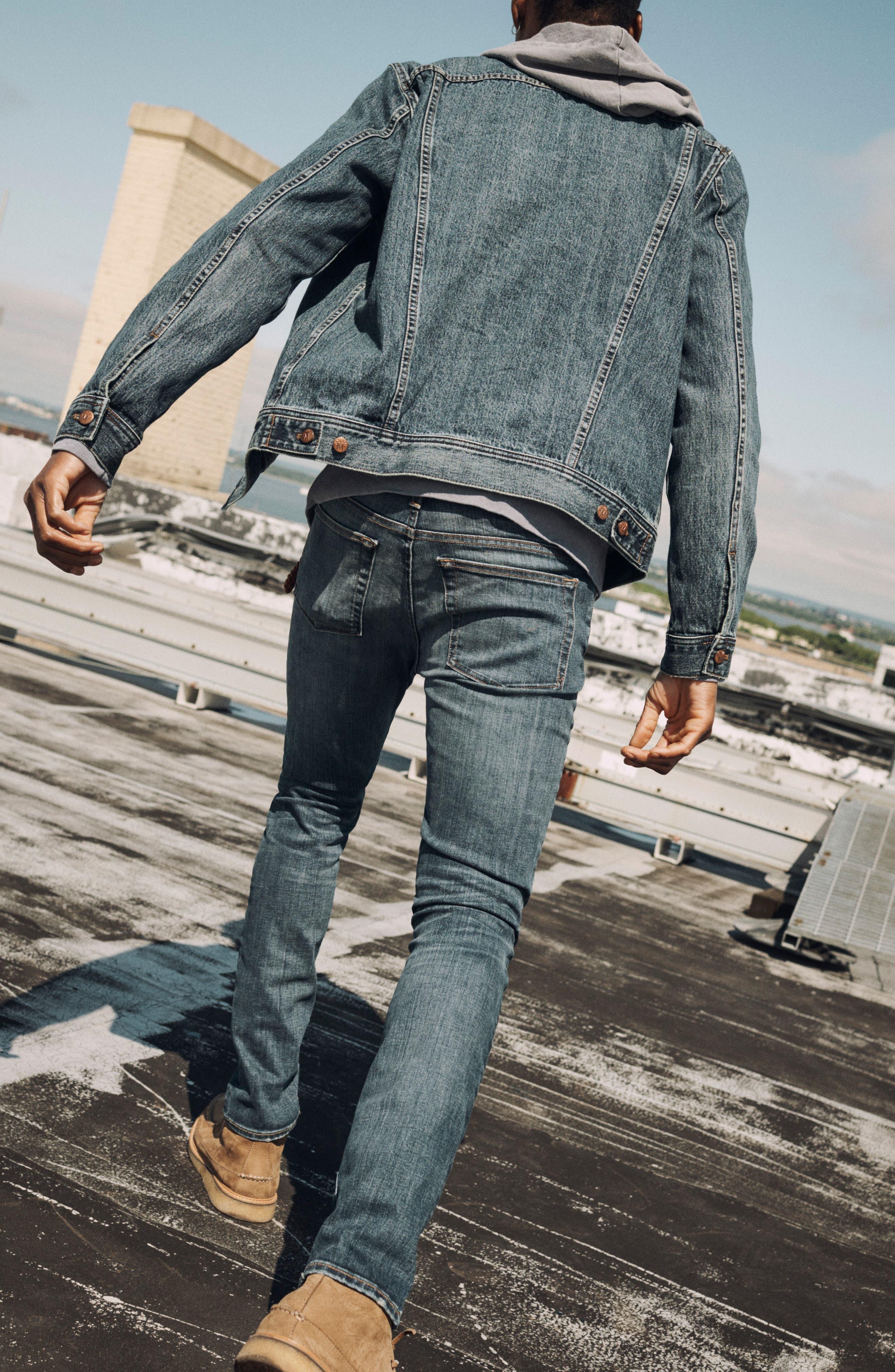 Skinny Fit Jeans,                             Alternate thumbnail 5, color,                             MEDIUM WASH