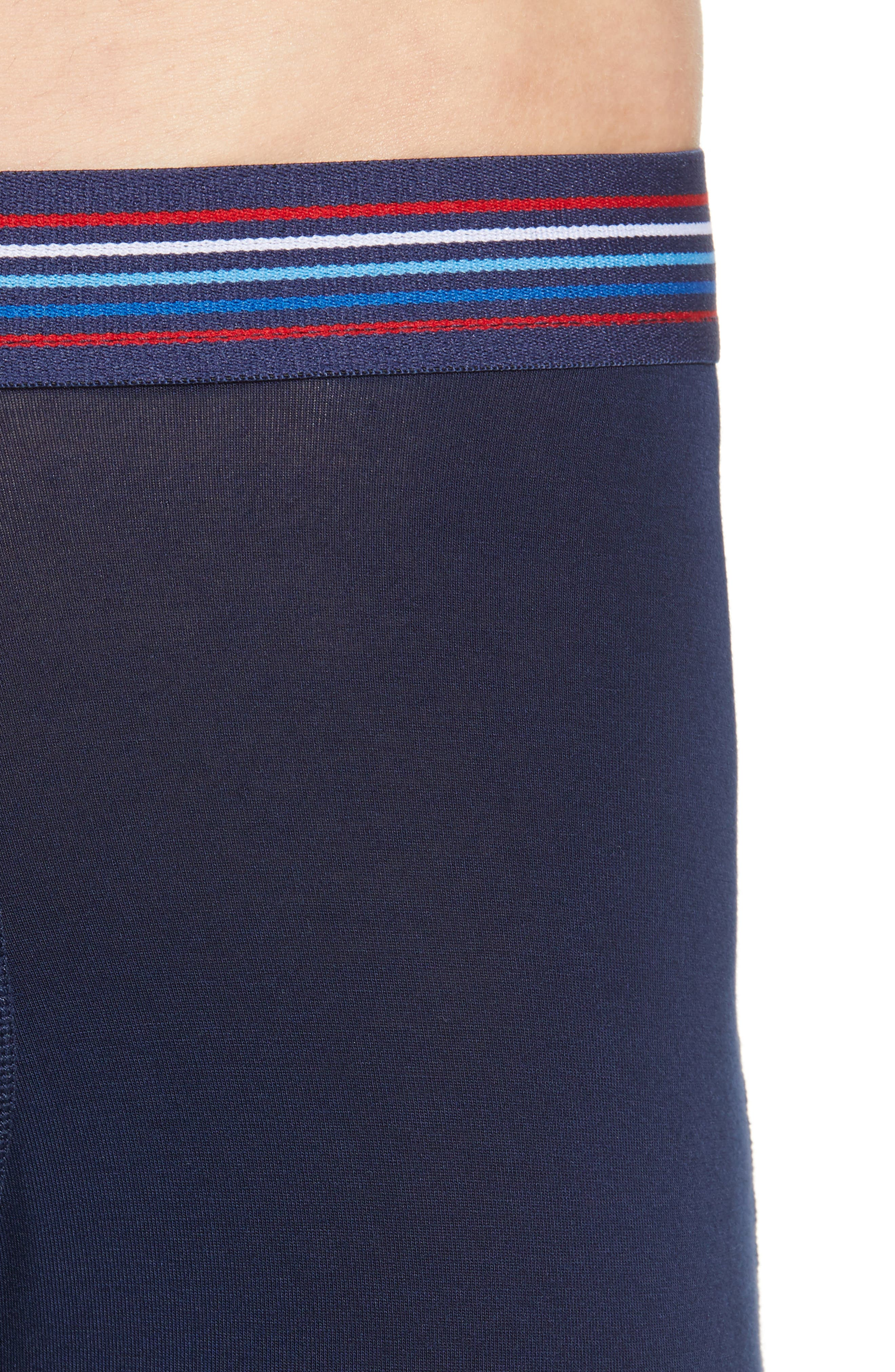 Vibe Modern Fit Boxer Brief,                             Alternate thumbnail 4, color,                             NAVY MULTI
