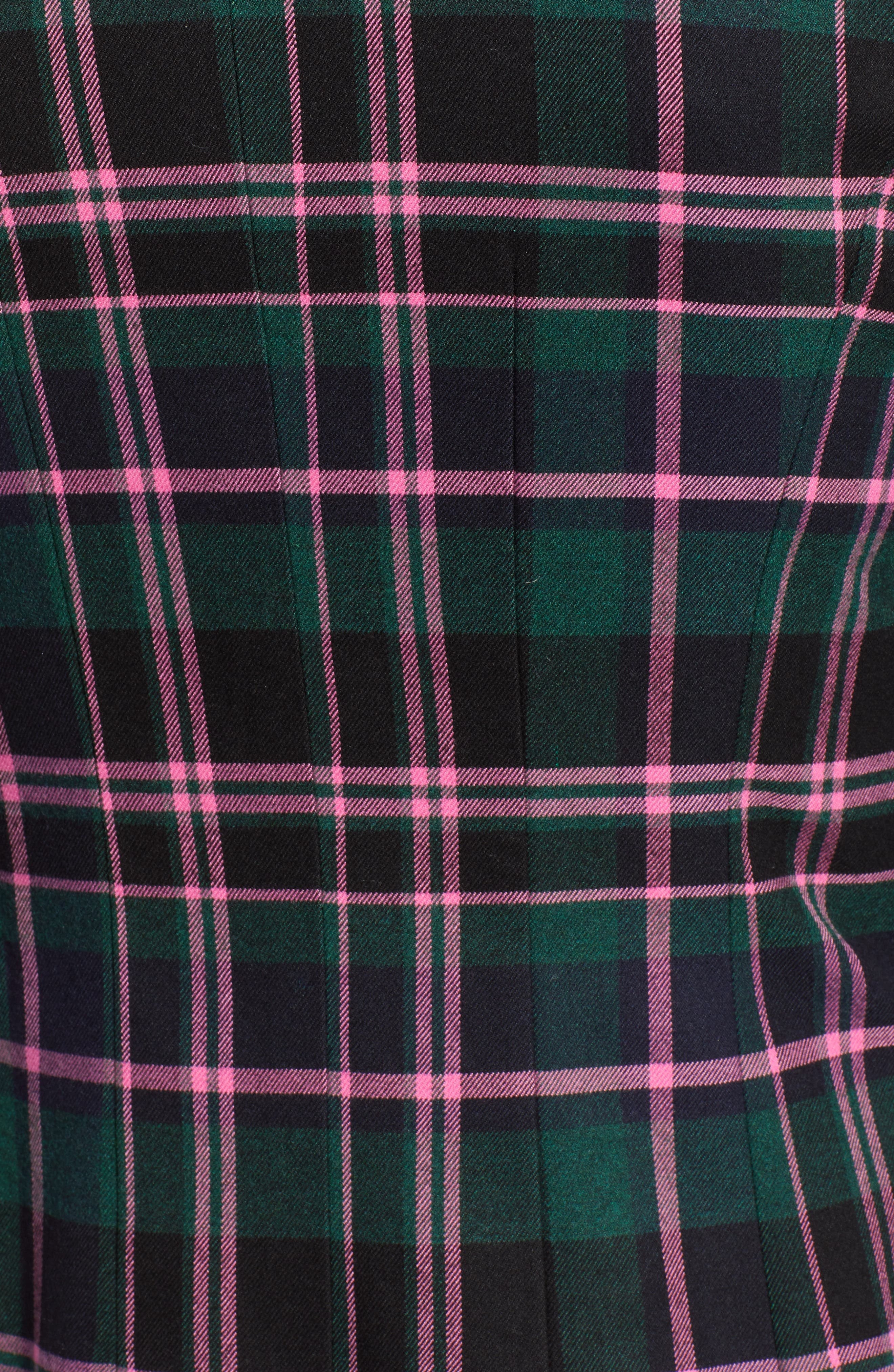Double Breasted Plaid Blazer,                             Alternate thumbnail 6, color,                             301