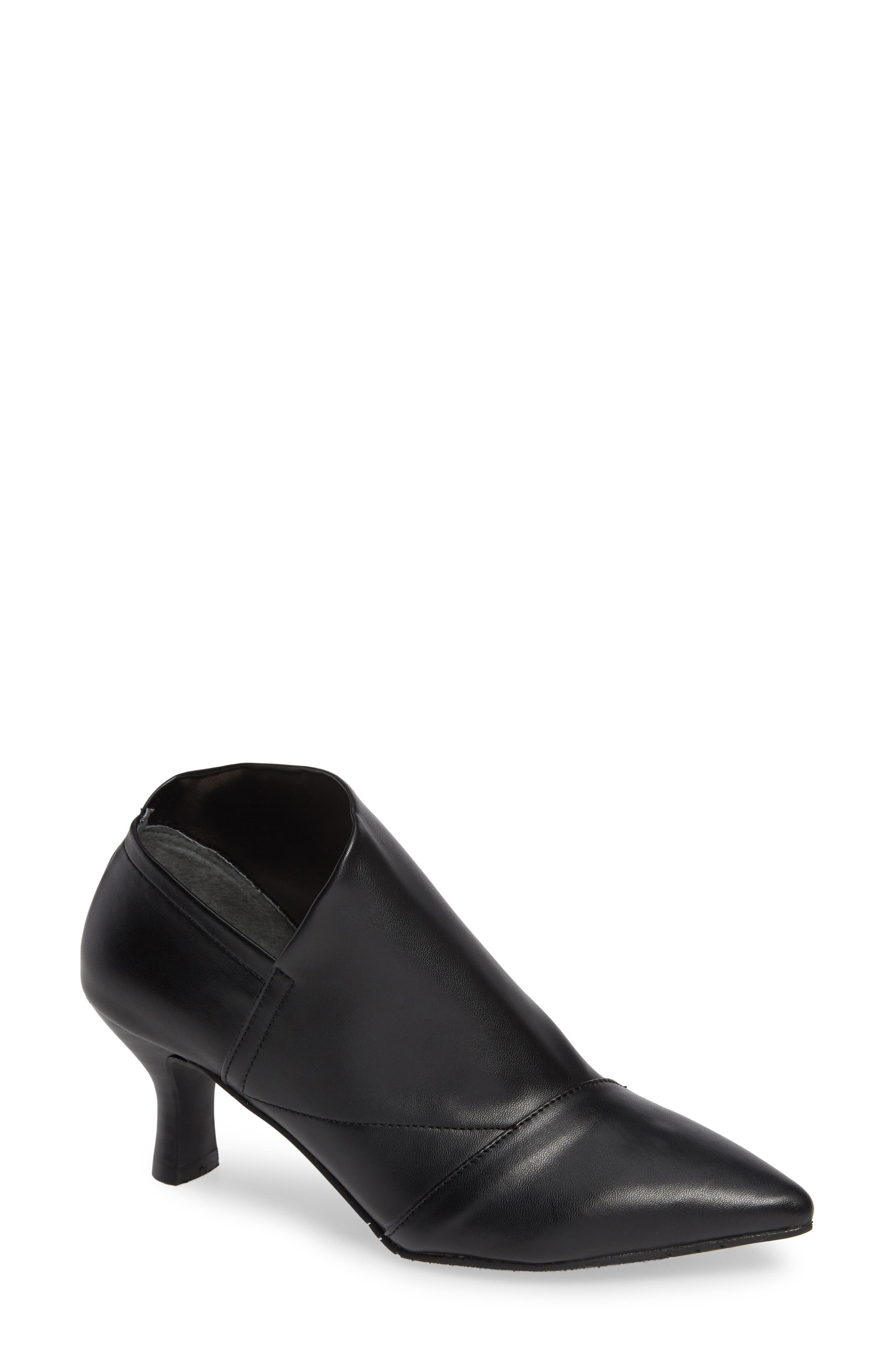Hayes Pointy Toe Bootie,                             Main thumbnail 1, color,                             BLACK LEATHER