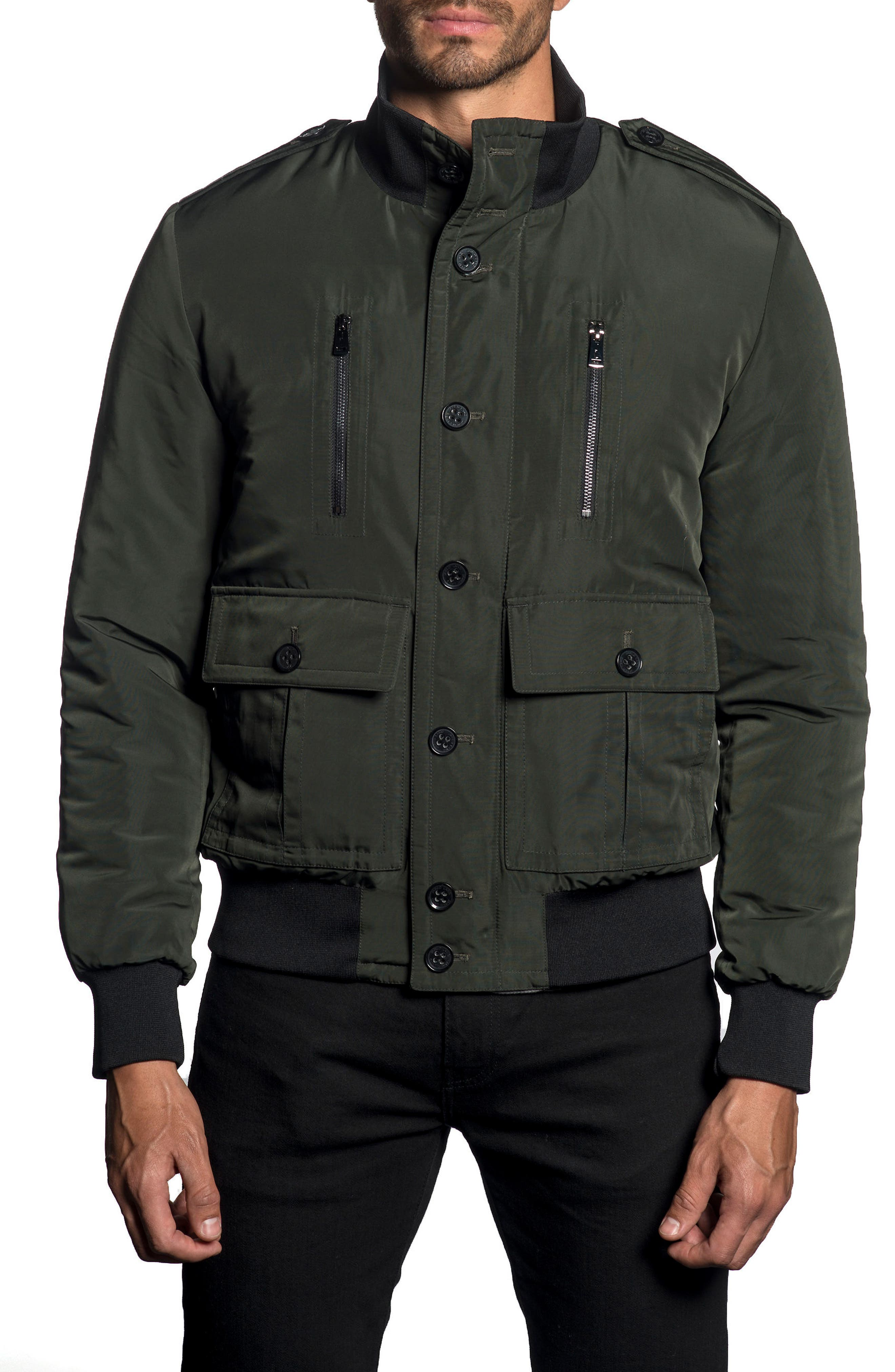Military Jacket,                         Main,                         color, ARMY GREEN